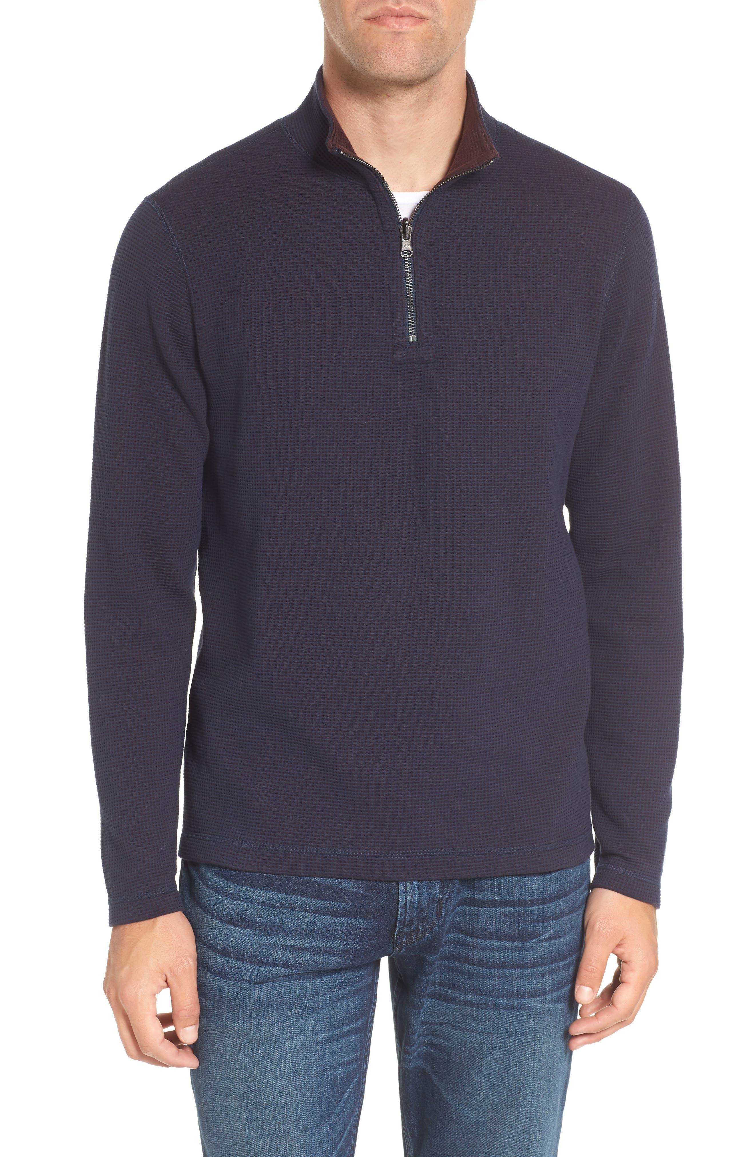 Main Image - Tailor Vintage Reversible Quarter Zip Pullover