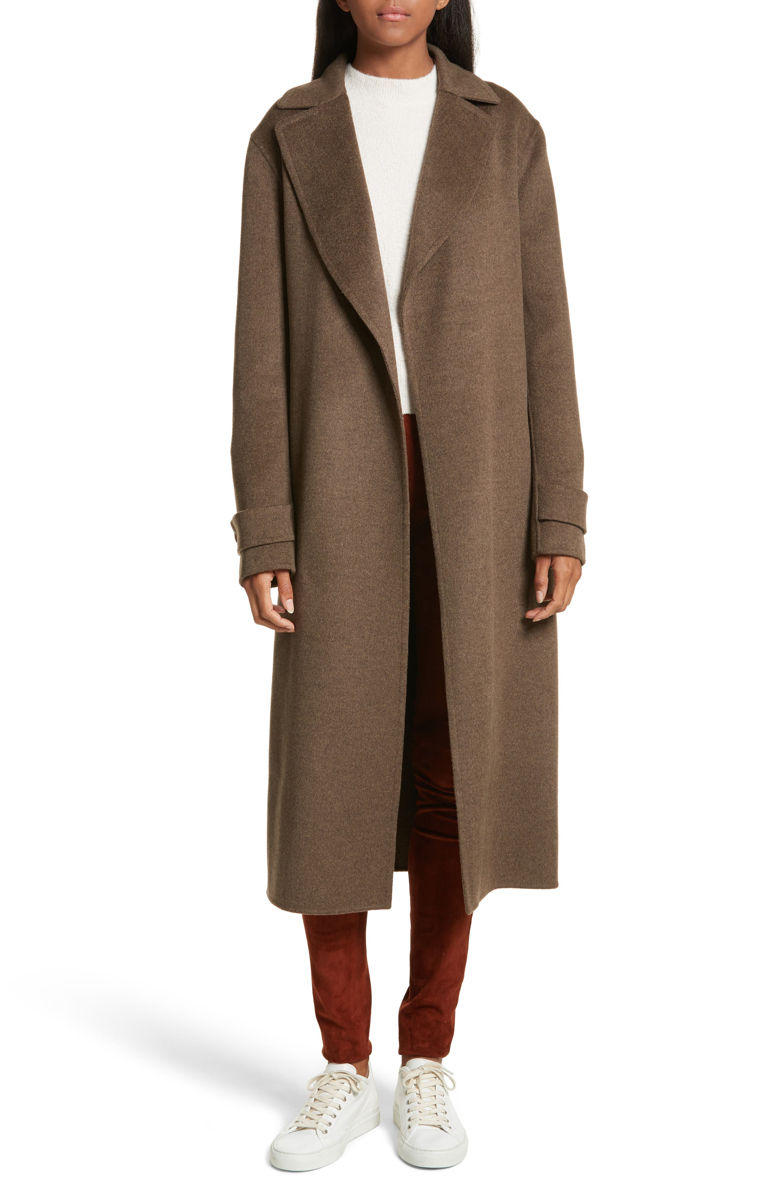 Dale Double-Face Wool & Cashmere Coat,                             Main thumbnail 1, color,                             Military