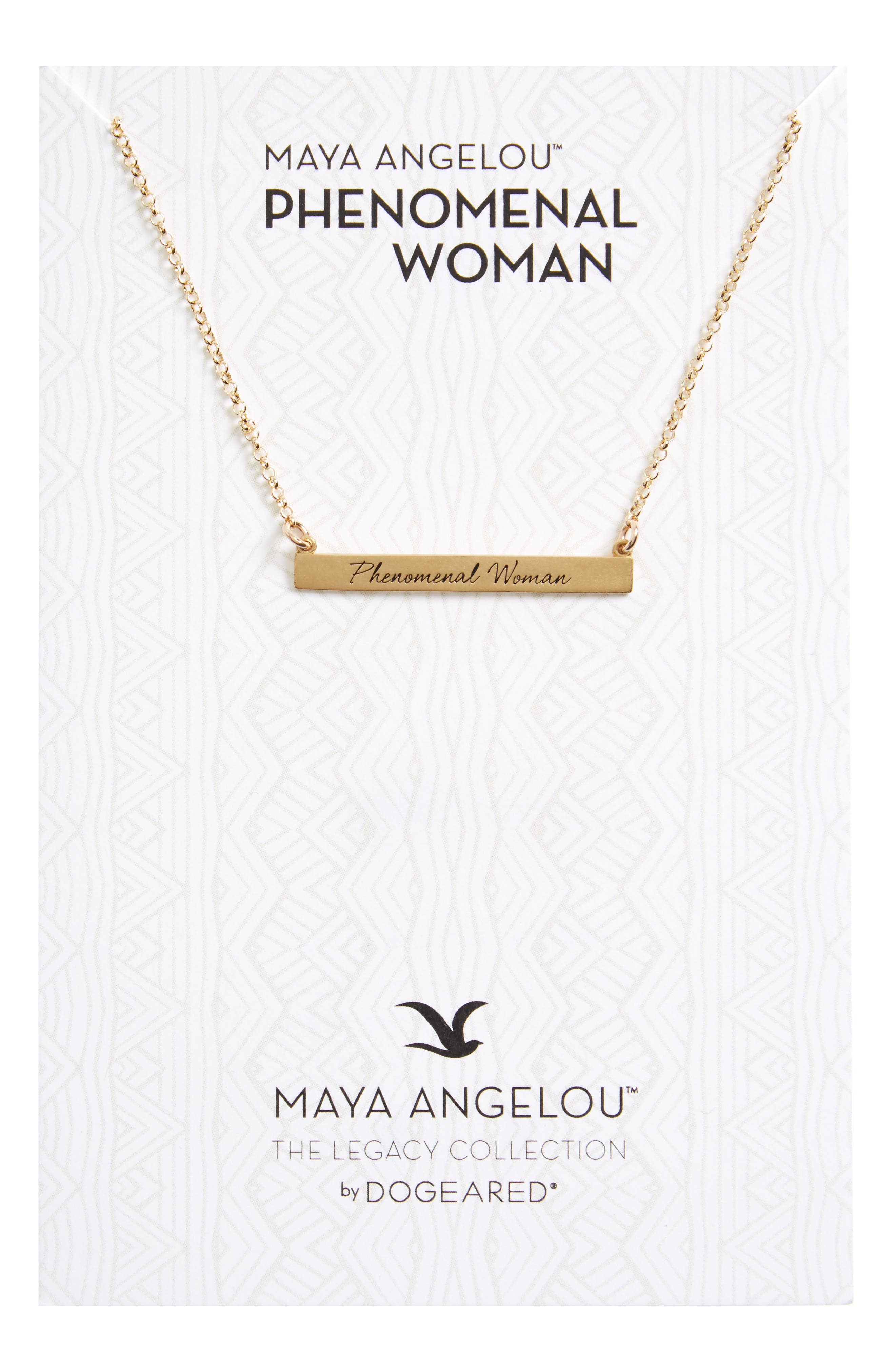 Legacy Collection - Phenomenal Women Bar Necklace,                             Main thumbnail 1, color,                             Gold