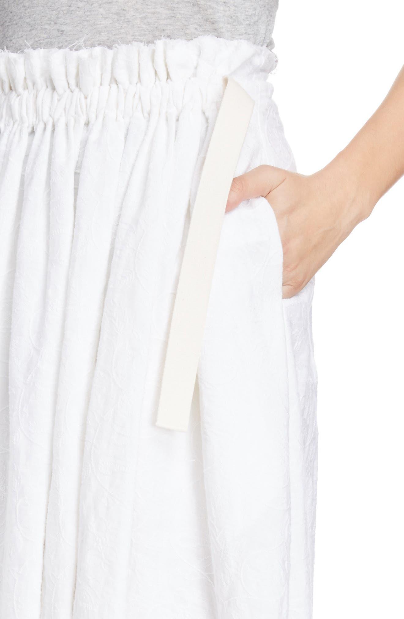 Alternate Image 4  - Loewe Drawstring Waist Broderie Anglaise Skirt