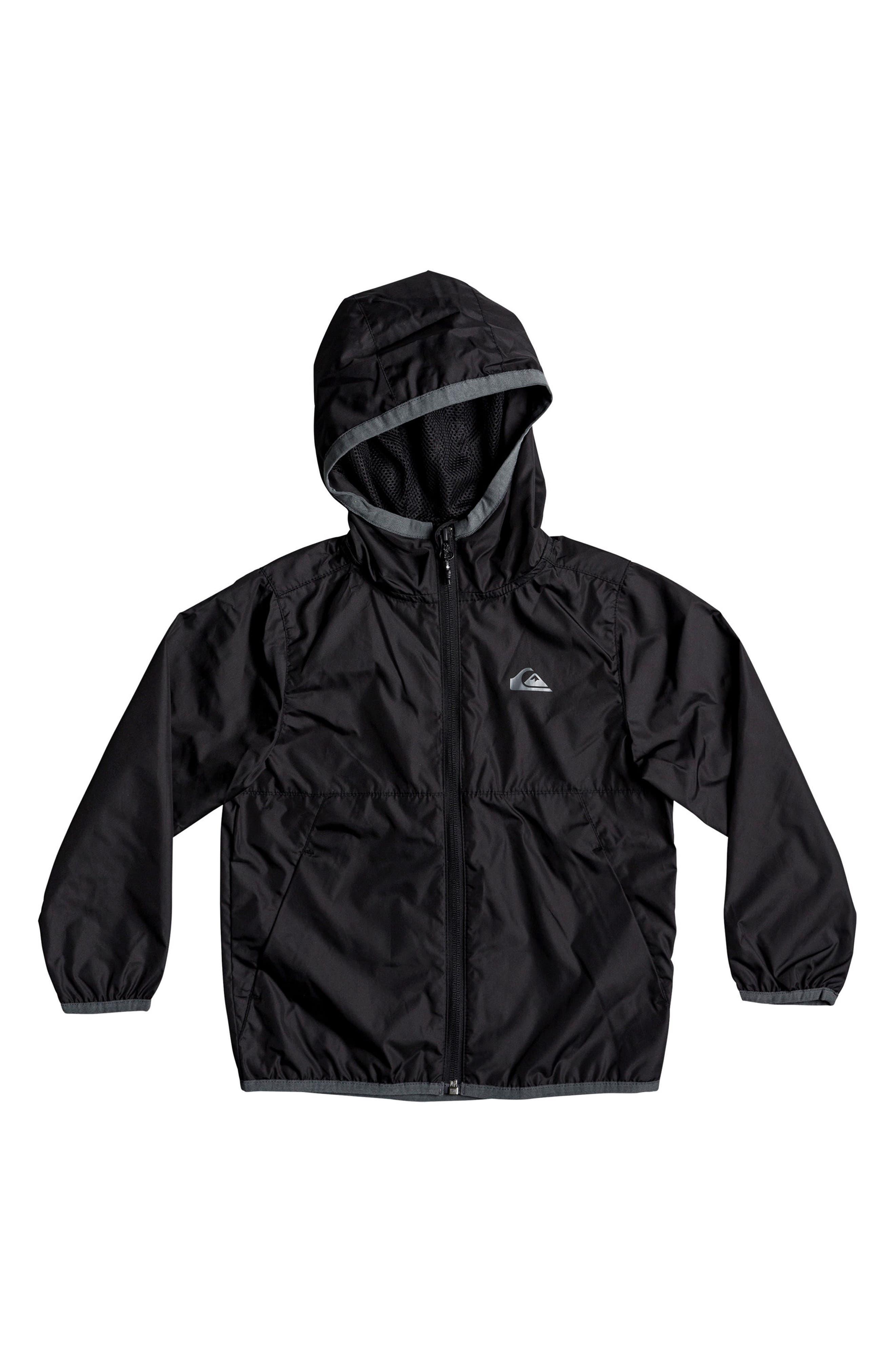 Hooded Jacket,                         Main,                         color, Black