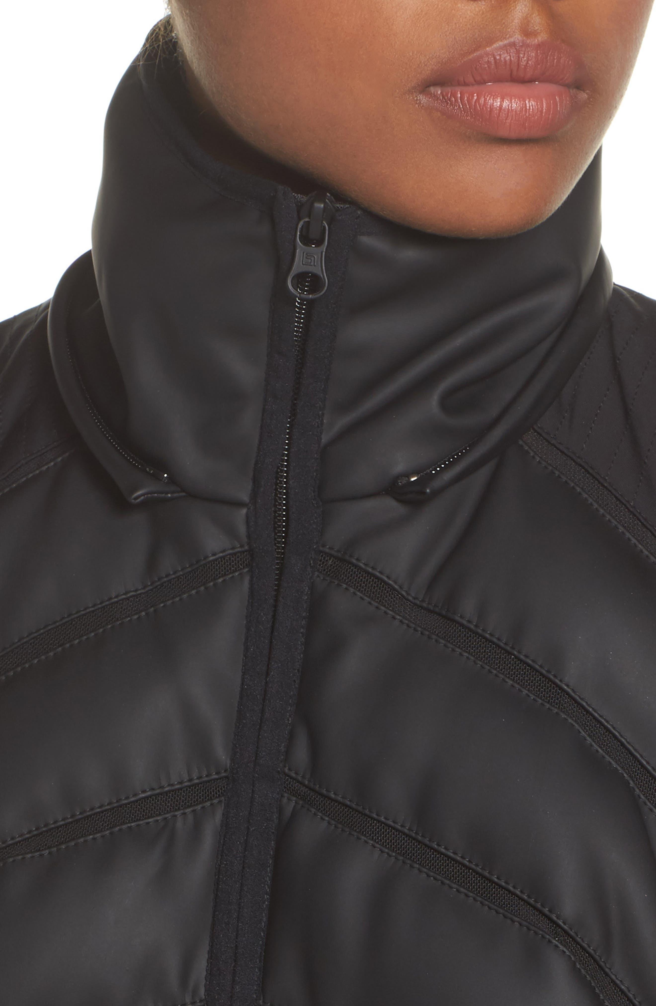 Alternate Image 4  - Blanc Noir Aura Mesh Inset Vest