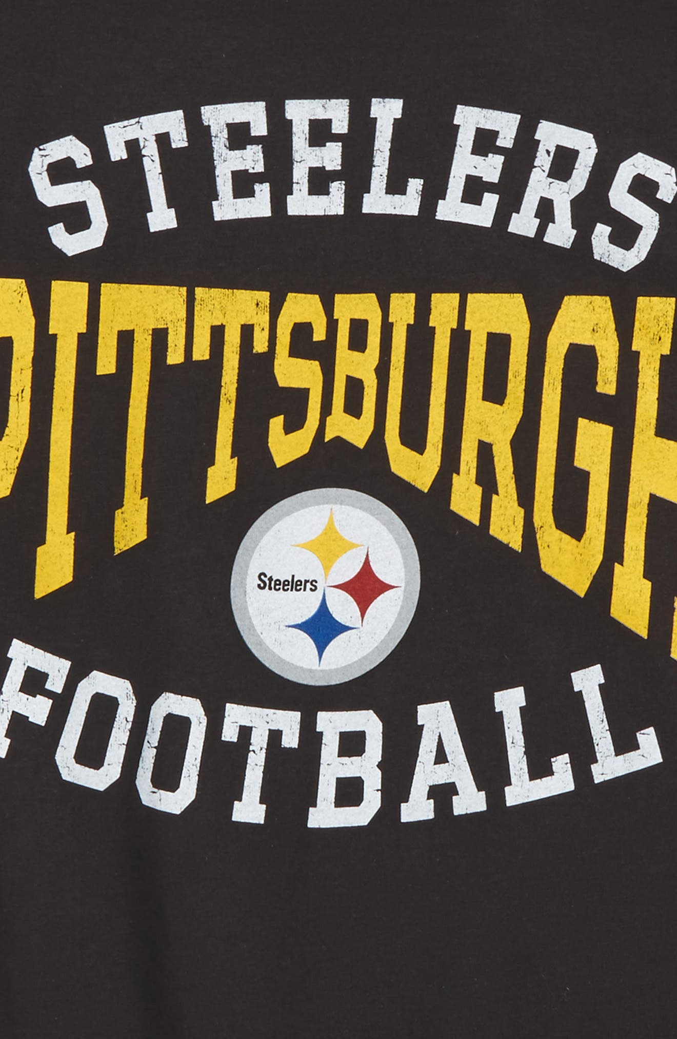NFL Pitsburgh Steelers Greatness T-Shirt,                             Alternate thumbnail 2, color,                             Black