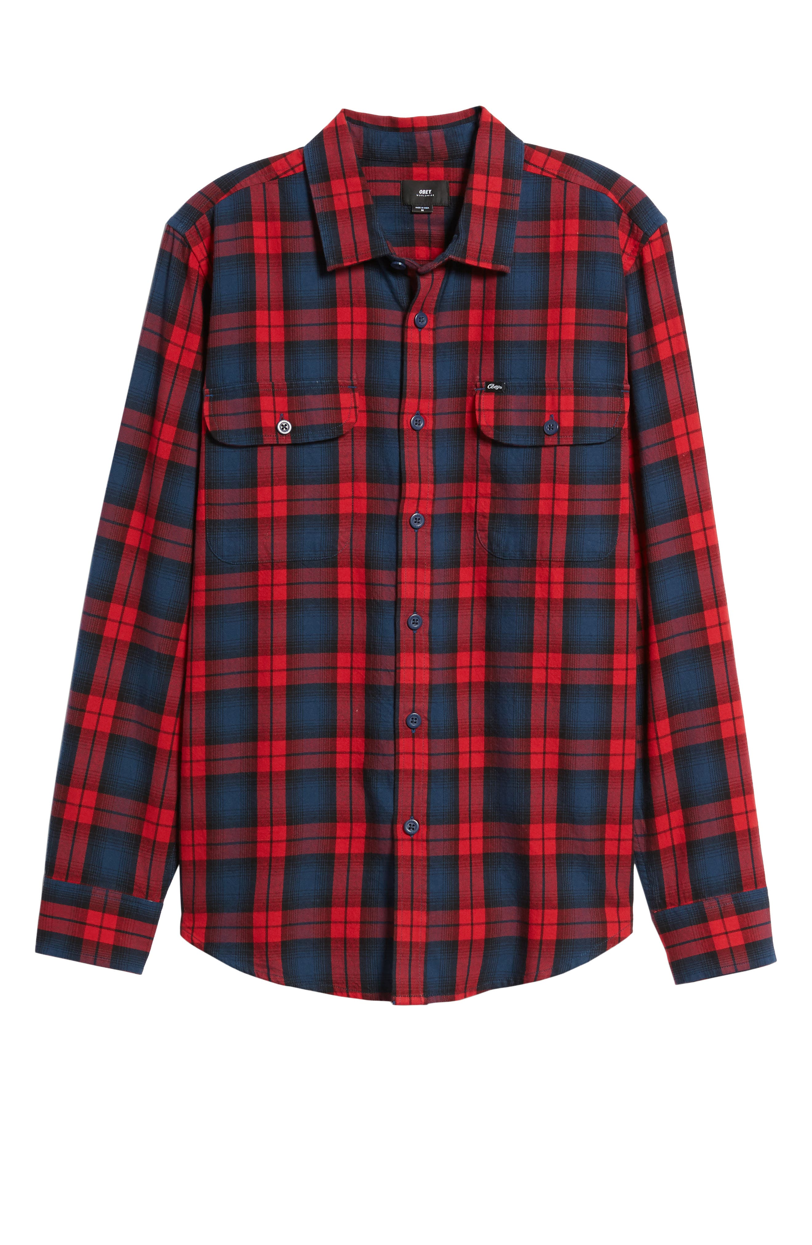 Alternate Image 6  - Obey Norwich Plaid Woven Shirt