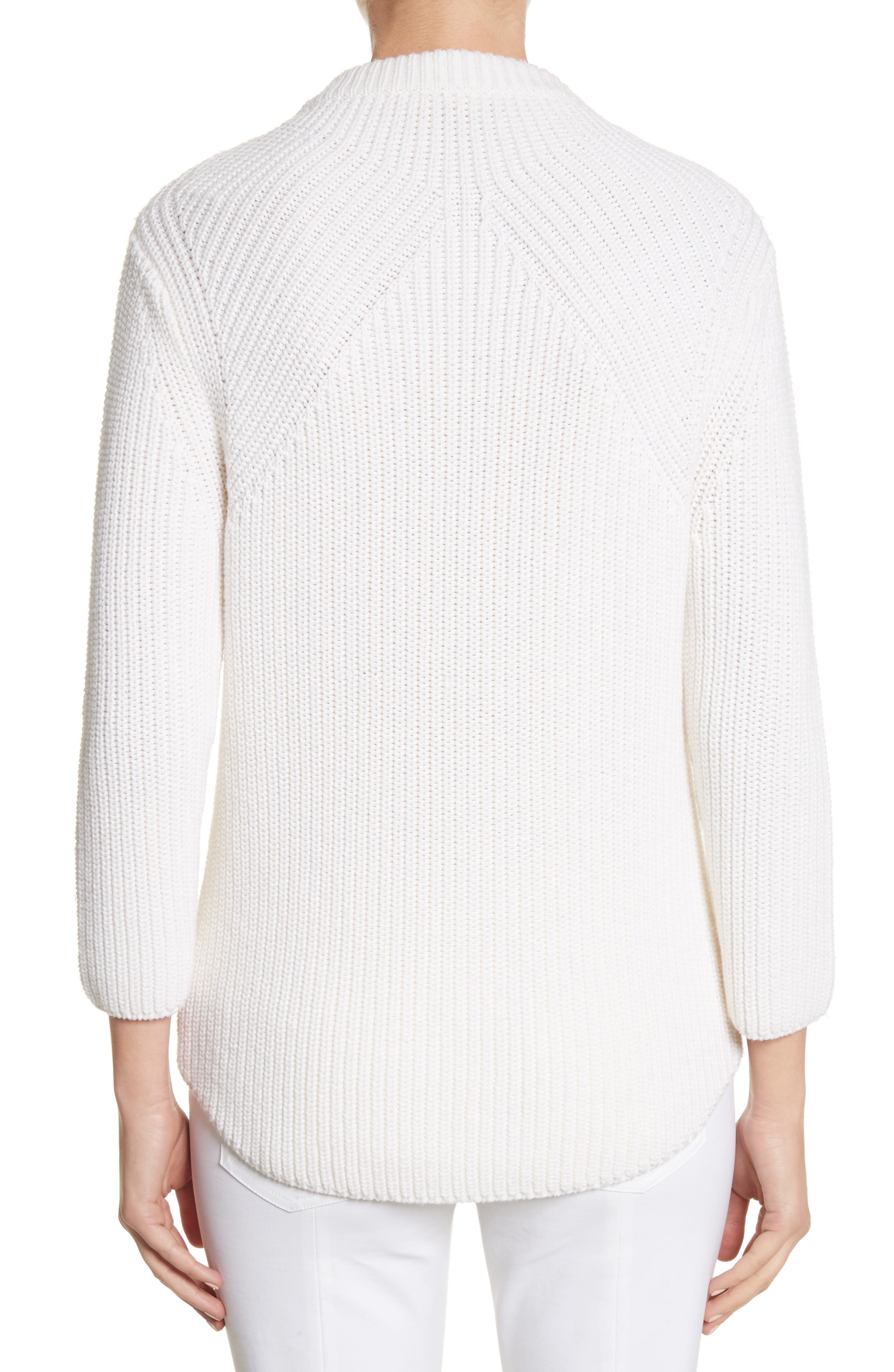 Alternate Image 2  - Michael Kors Merino Wool & Cotton Pullover