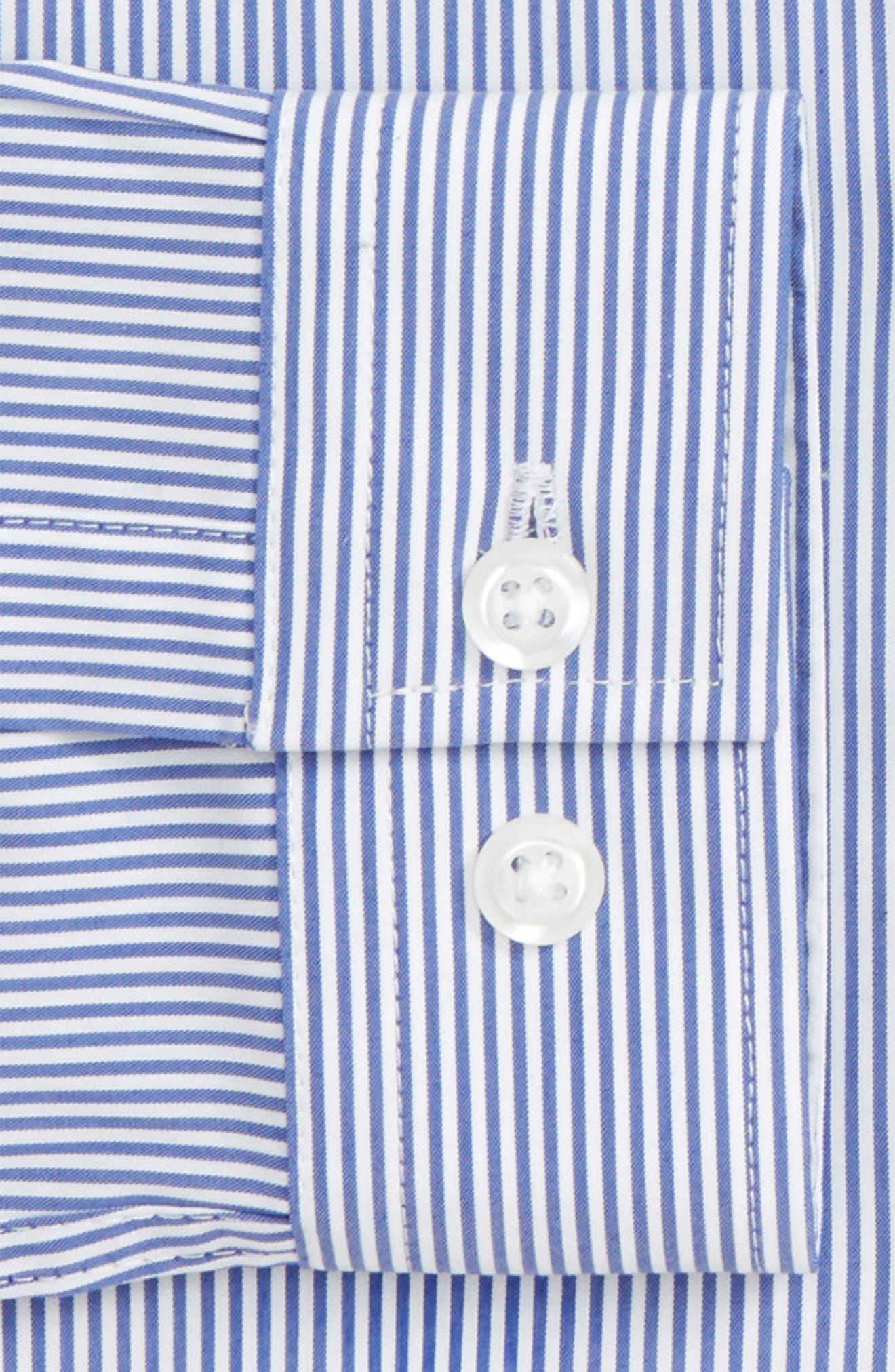 Muscle Fit Smart Shirt,                             Alternate thumbnail 4, color,                             Blue Multi