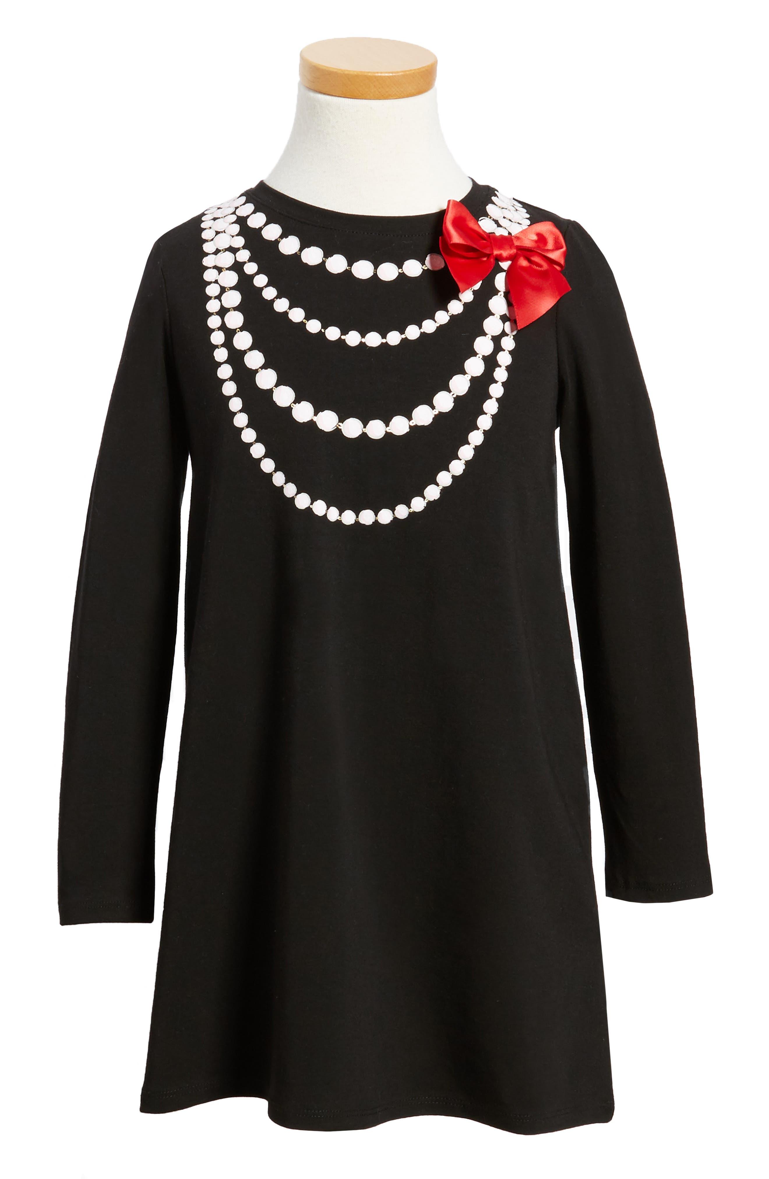 Main Image - kate spade new york trompe l'oeil dress (Toddler Girls & Little Girls)