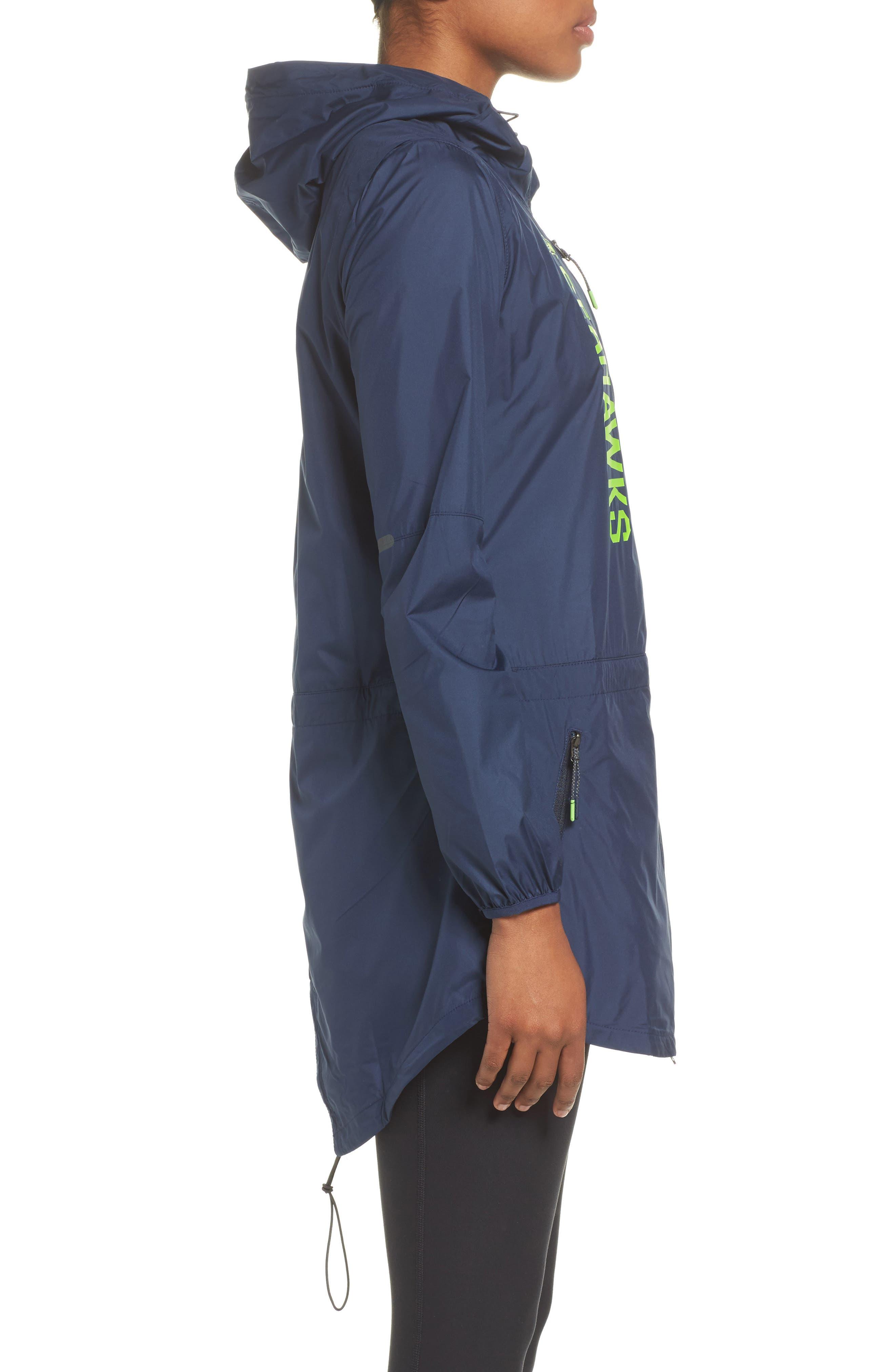 NFL Packable Water Resistant Jacket,                             Alternate thumbnail 2, color,                             College Navy/ Seahawks