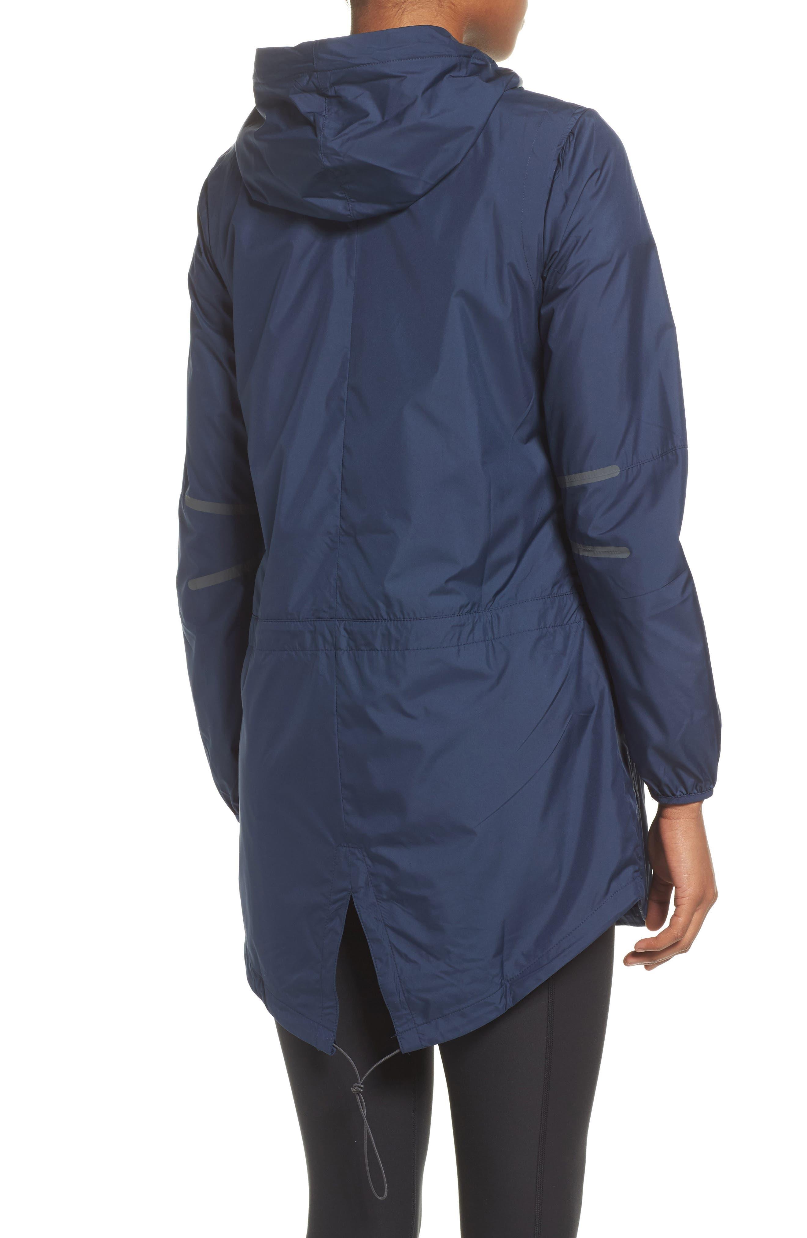 NFL Packable Water Resistant Jacket,                             Alternate thumbnail 3, color,                             College Navy/ Seahawks