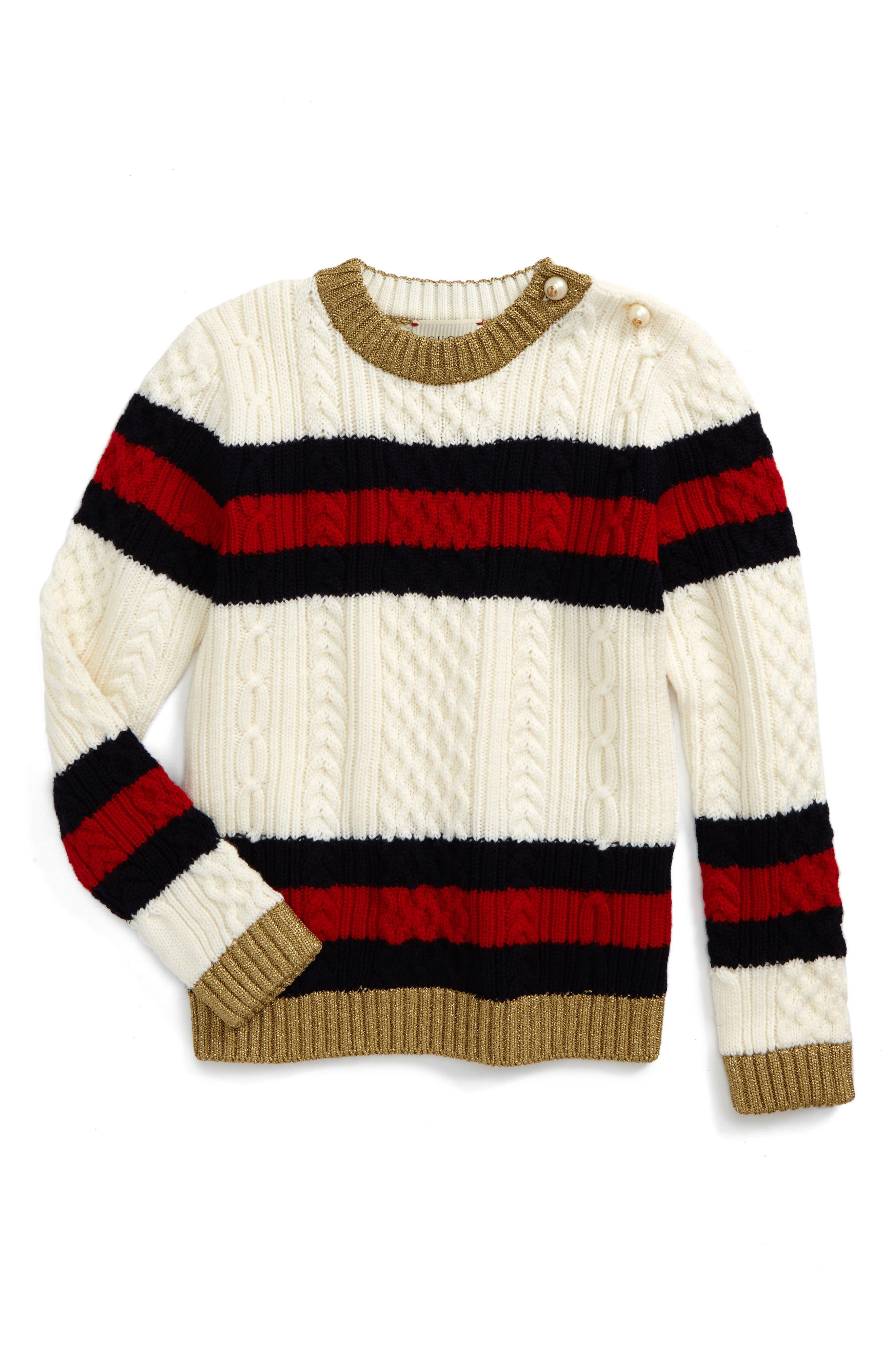 Gucci Wool Stripe Sweater (Little Girls & Big Girls)
