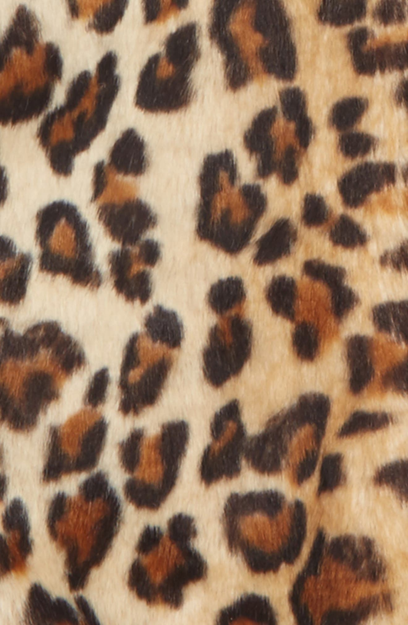 Alternate Image 2  - Splendid Leopard Print Faux Fur Hooded Jacket (Toddler Girls & Little Girls)