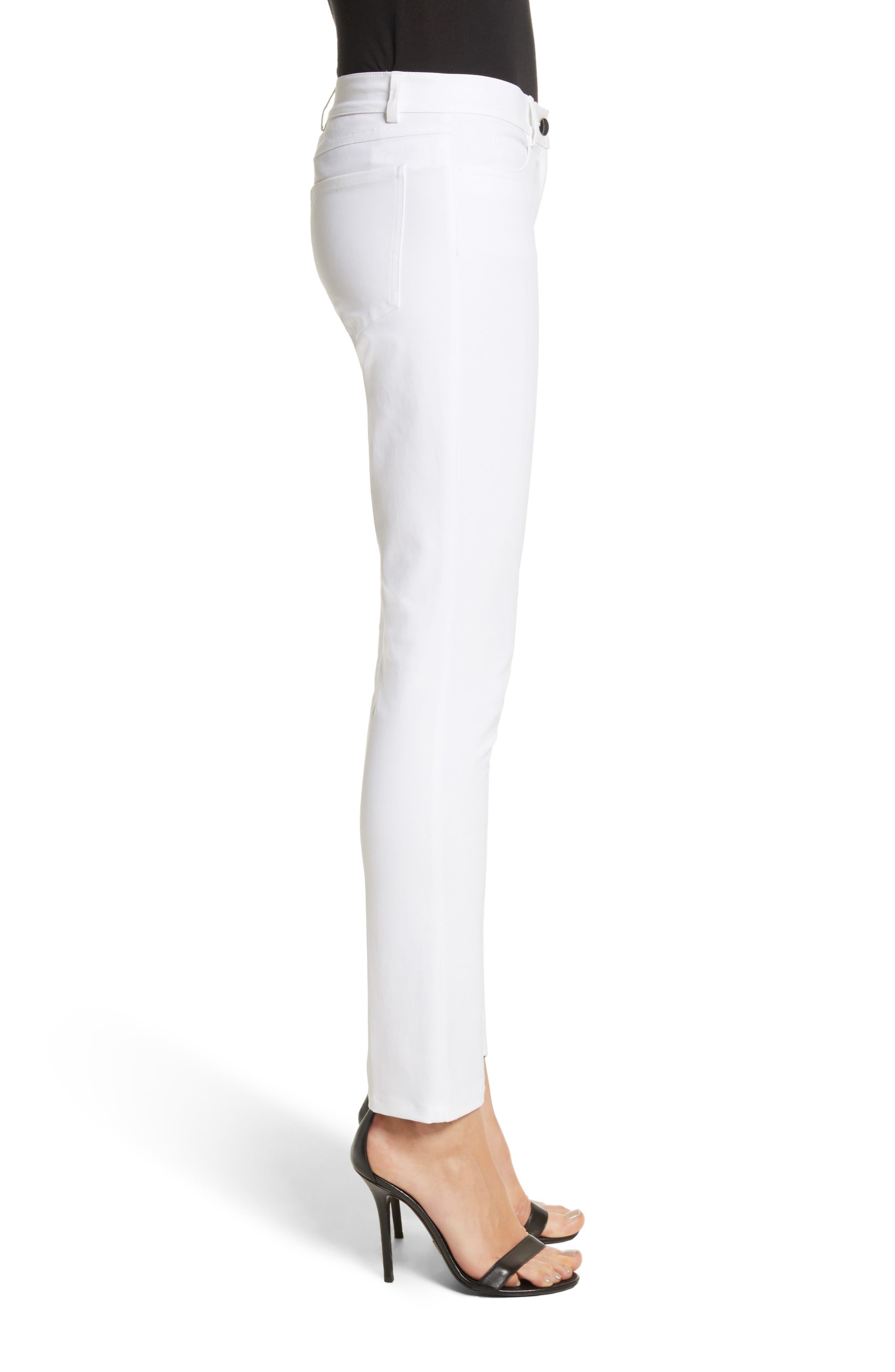 Alternate Image 3  - Michael Kors Samantha Skinny Jeans (Optic White)