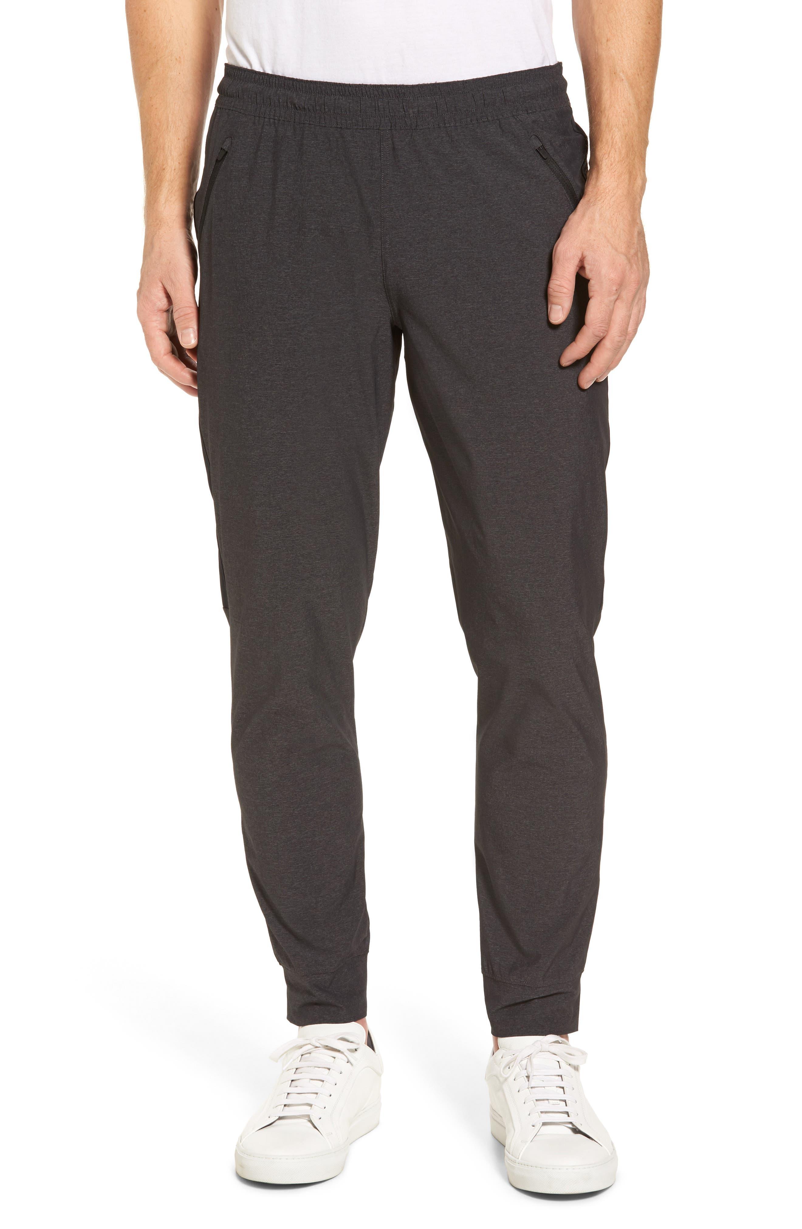 Zip Pocket Sweatpants,                             Main thumbnail 1, color,                             Grey Ebony Melange