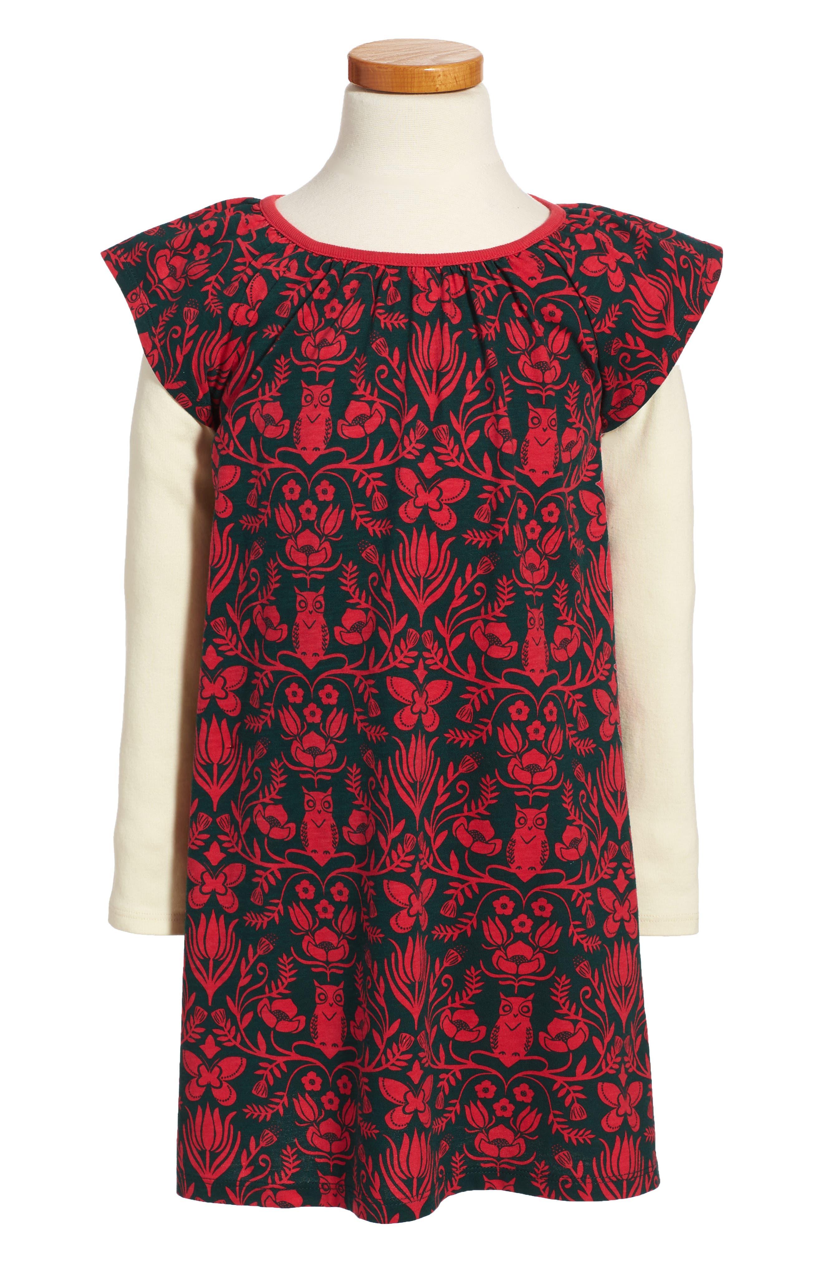 McKenna Flutter Dress,                         Main,                         color, River Green