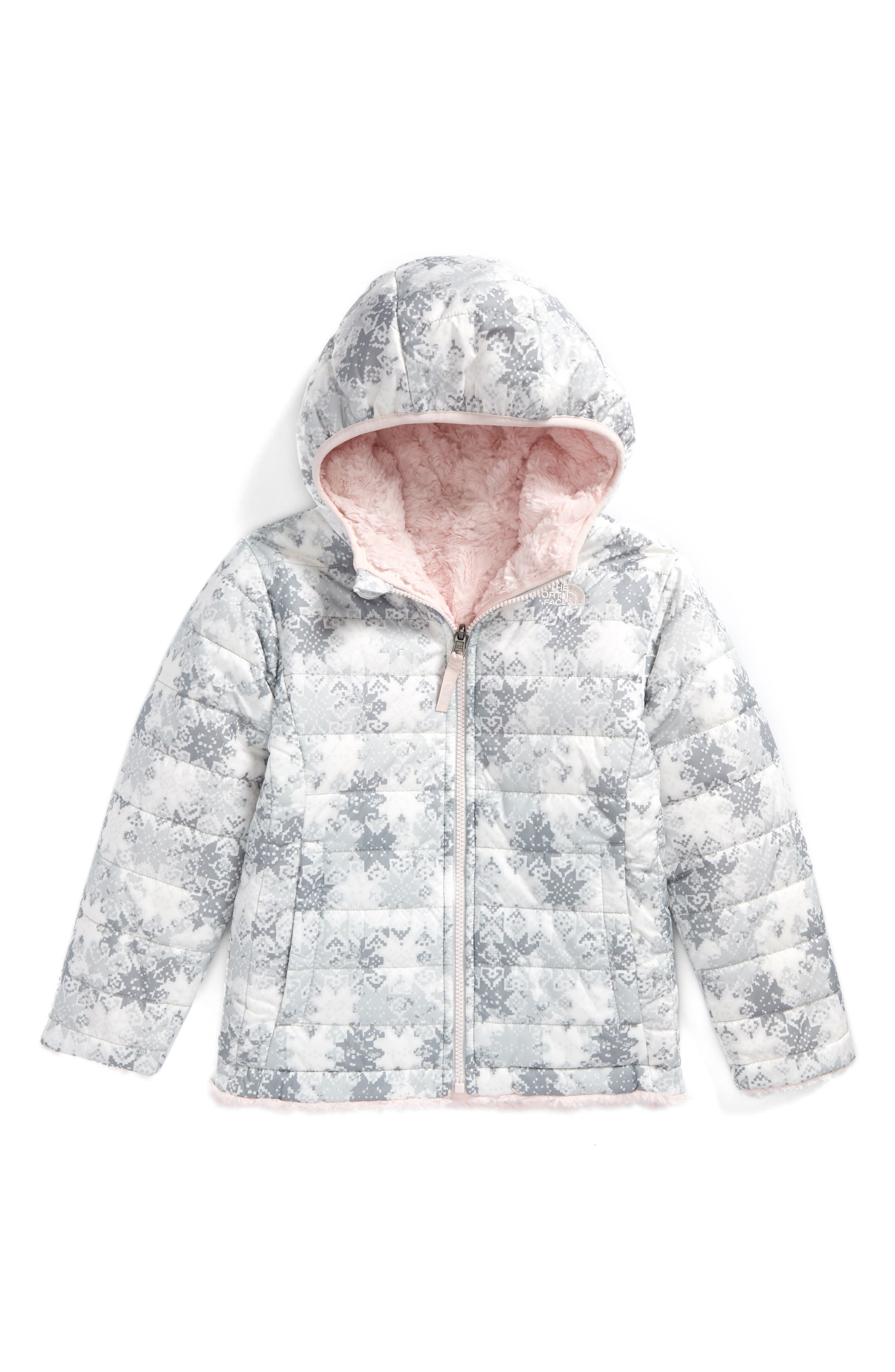 Mossbud Swirl Reversible Water Repellent Jacket,                         Main,                         color, White Snow