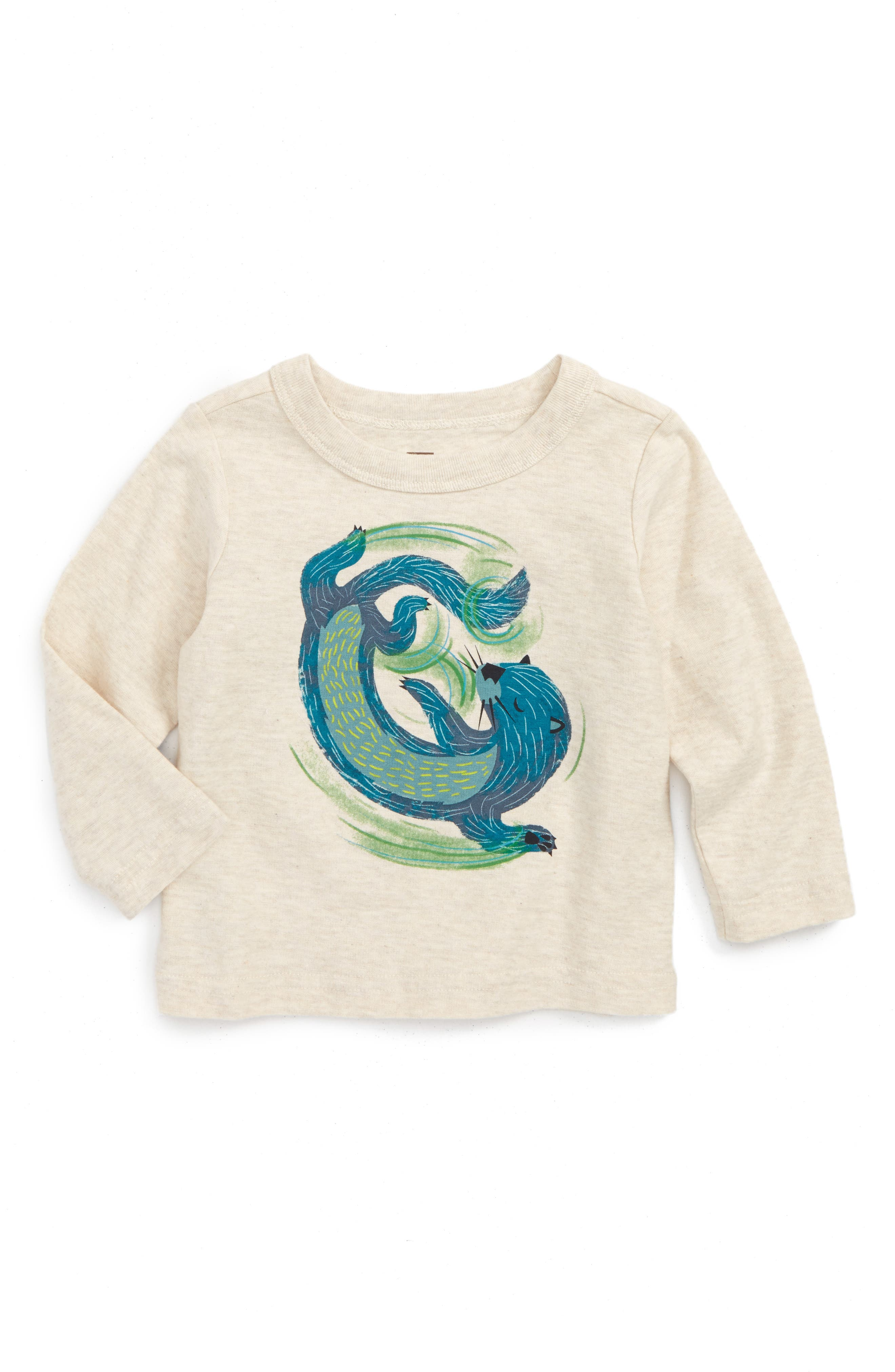 River Otter Graphic T-Shirt,                             Main thumbnail 1, color,                             Oatmeal Heather