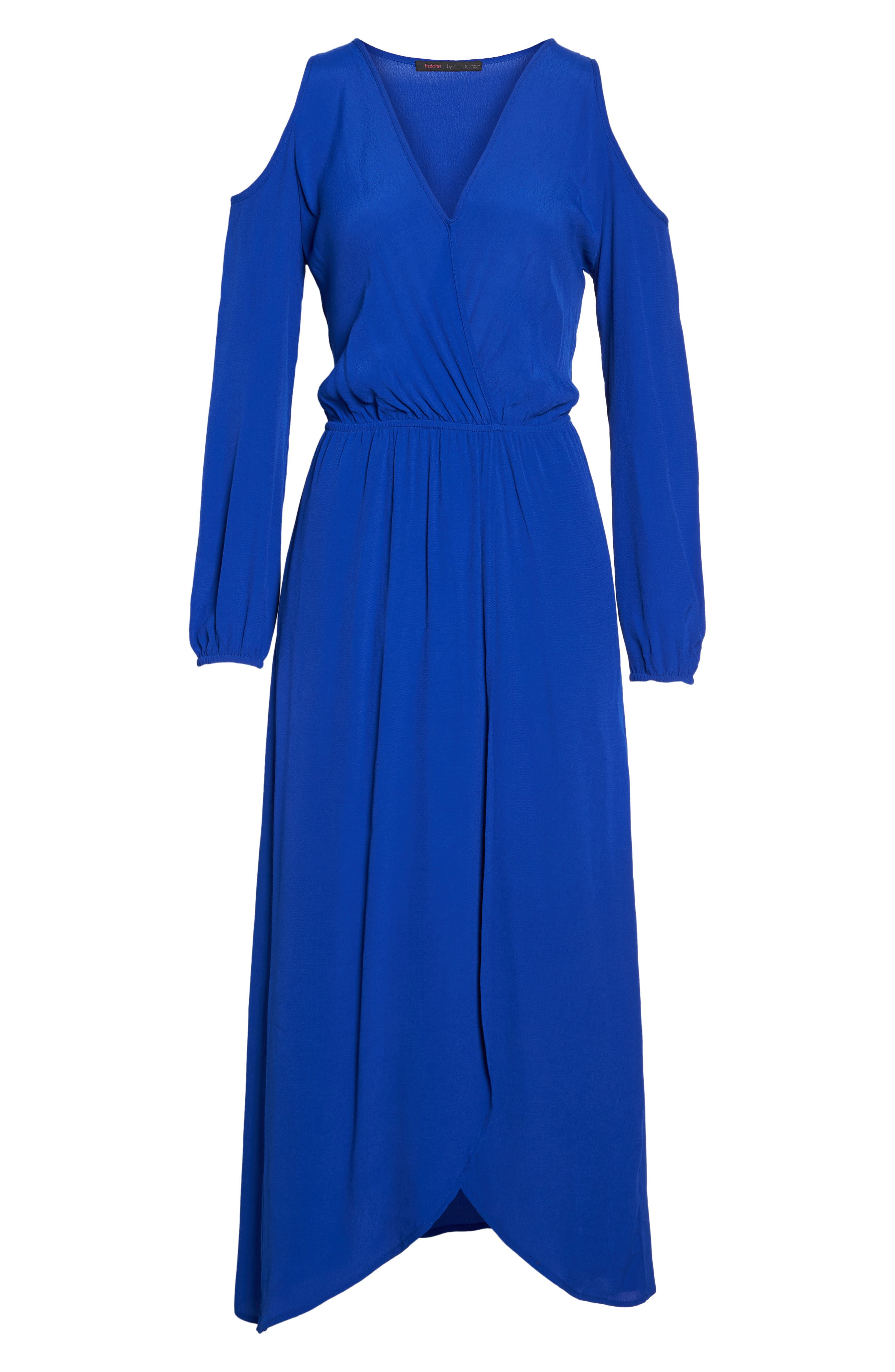 Cold Shoulder Maxi Dress,                             Alternate thumbnail 6, color,                             Royal