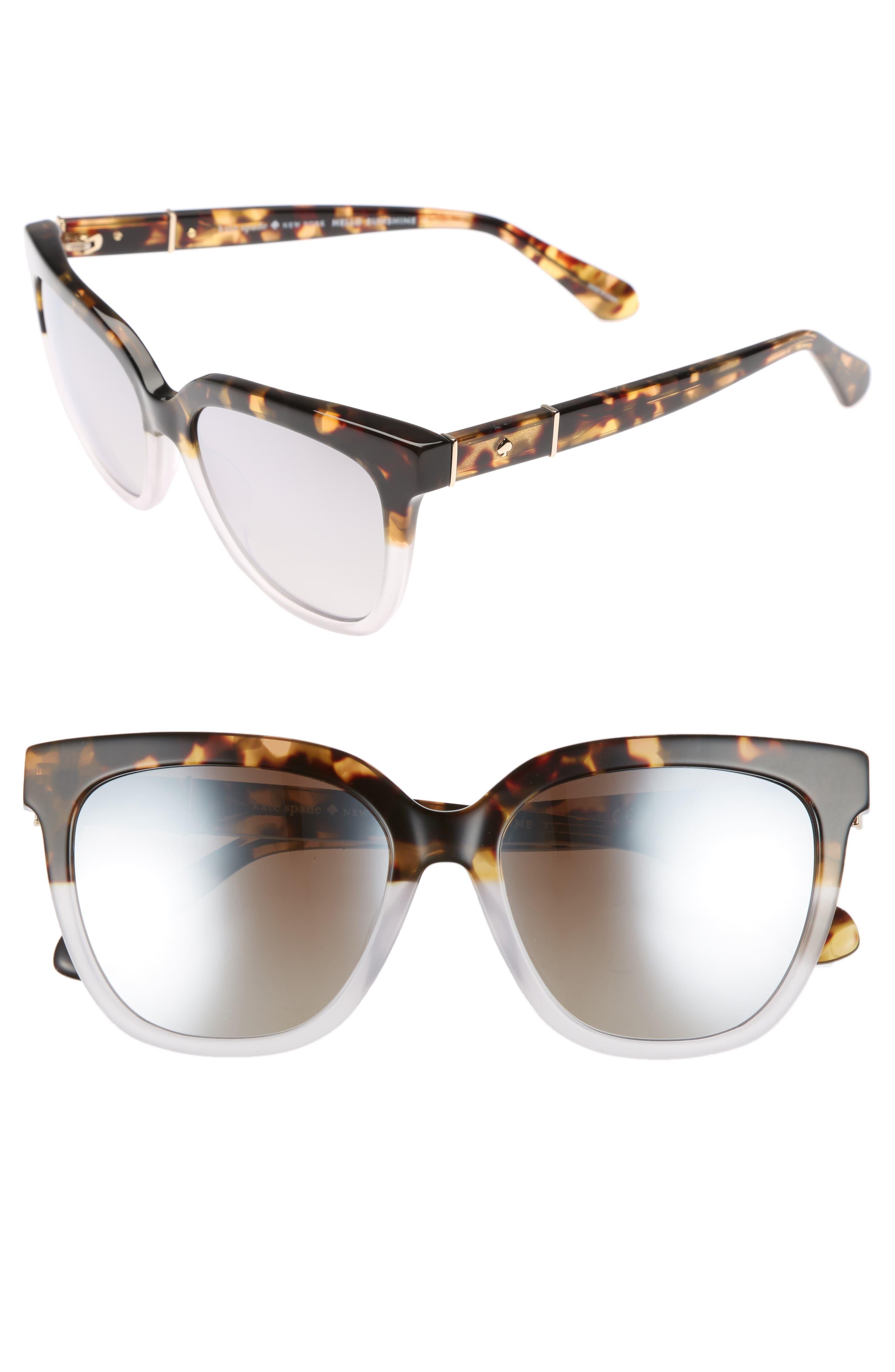 kate spade new york kahli 53mm cat eye sunglasses