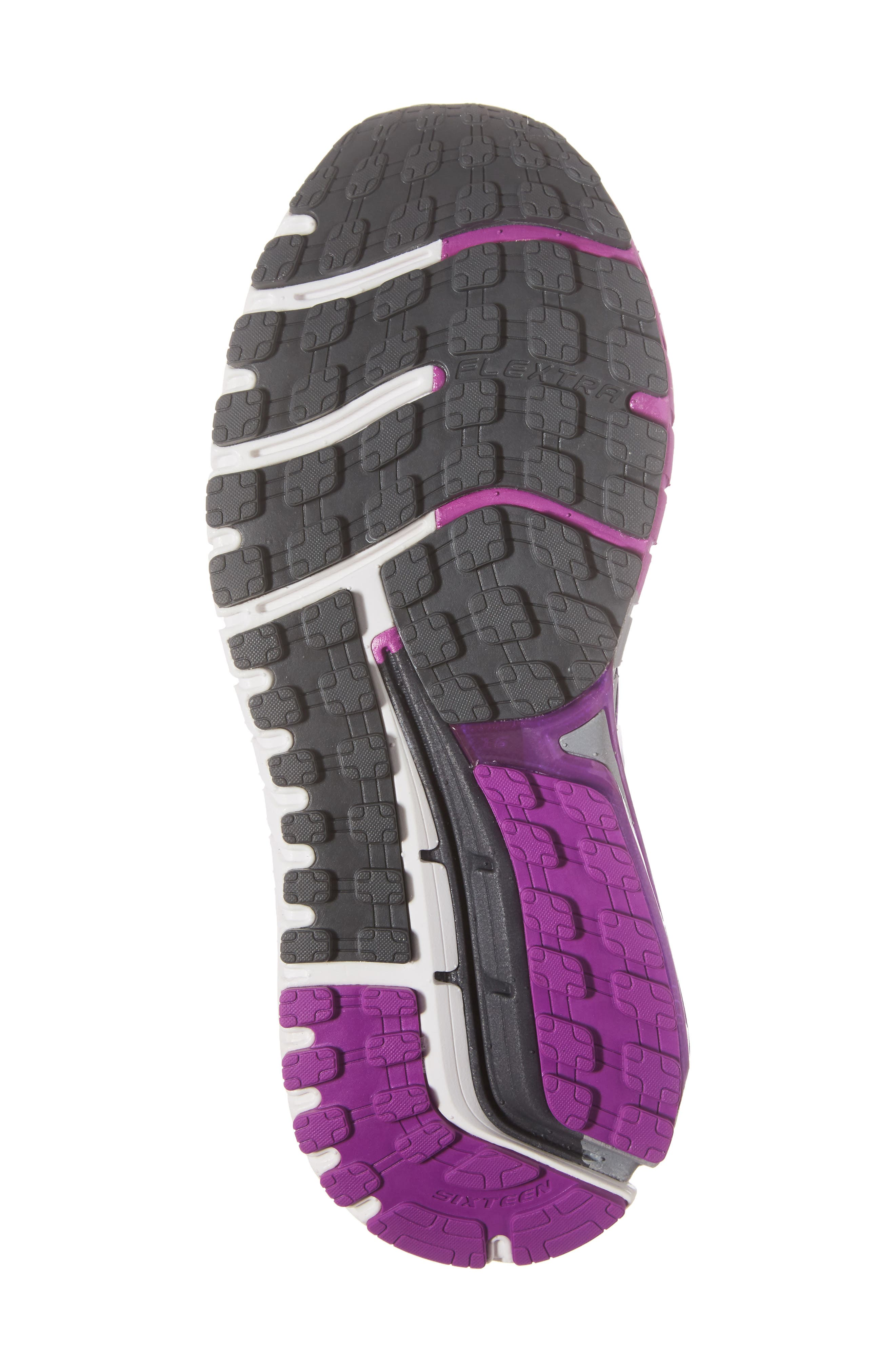 'Ariel 16' Running Shoe,                             Alternate thumbnail 6, color,                             Anthracite/ Purple/ Grey