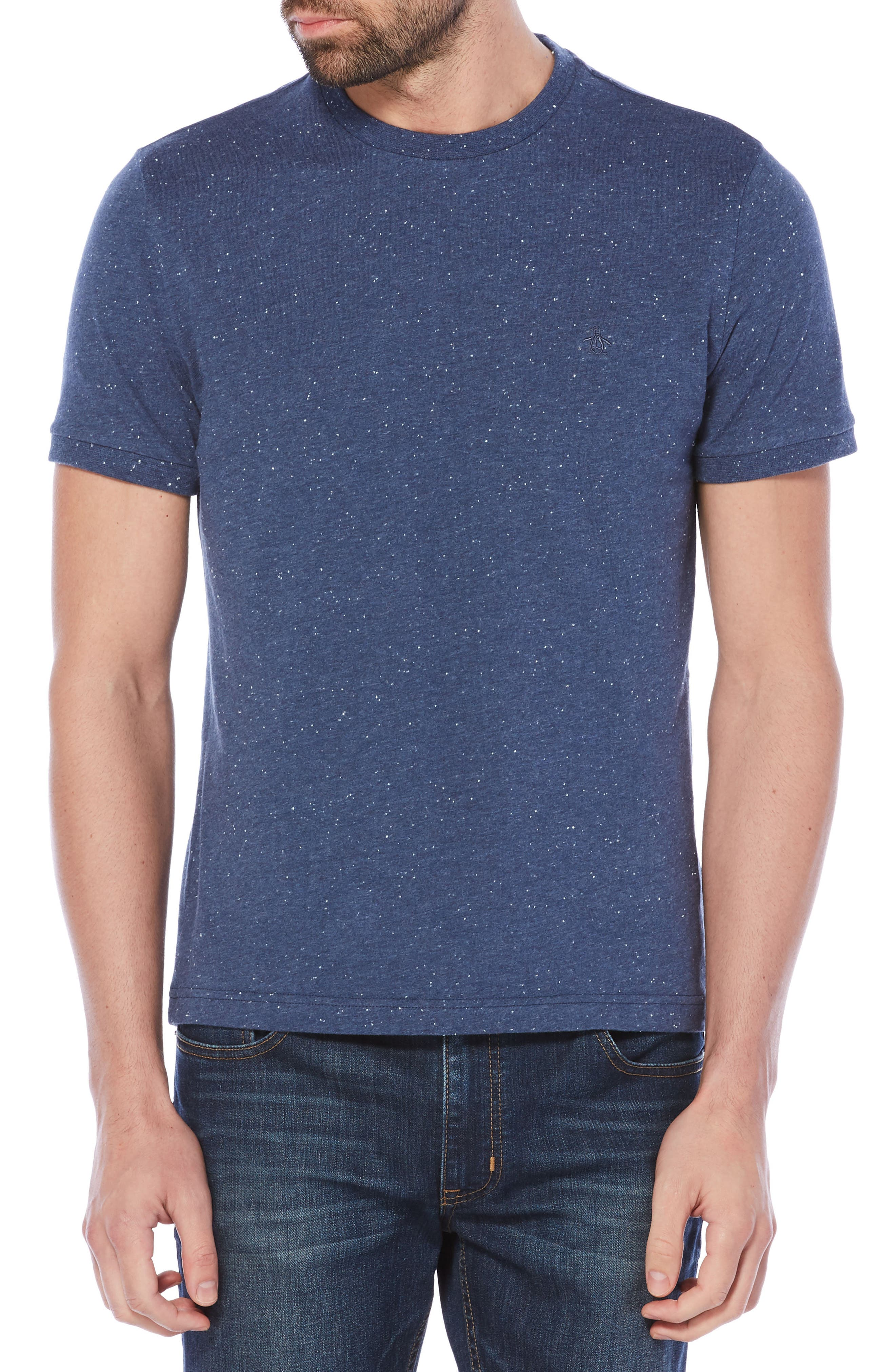Nep Speckled T-Shirt,                             Main thumbnail 1, color,                             Vintage Indigo