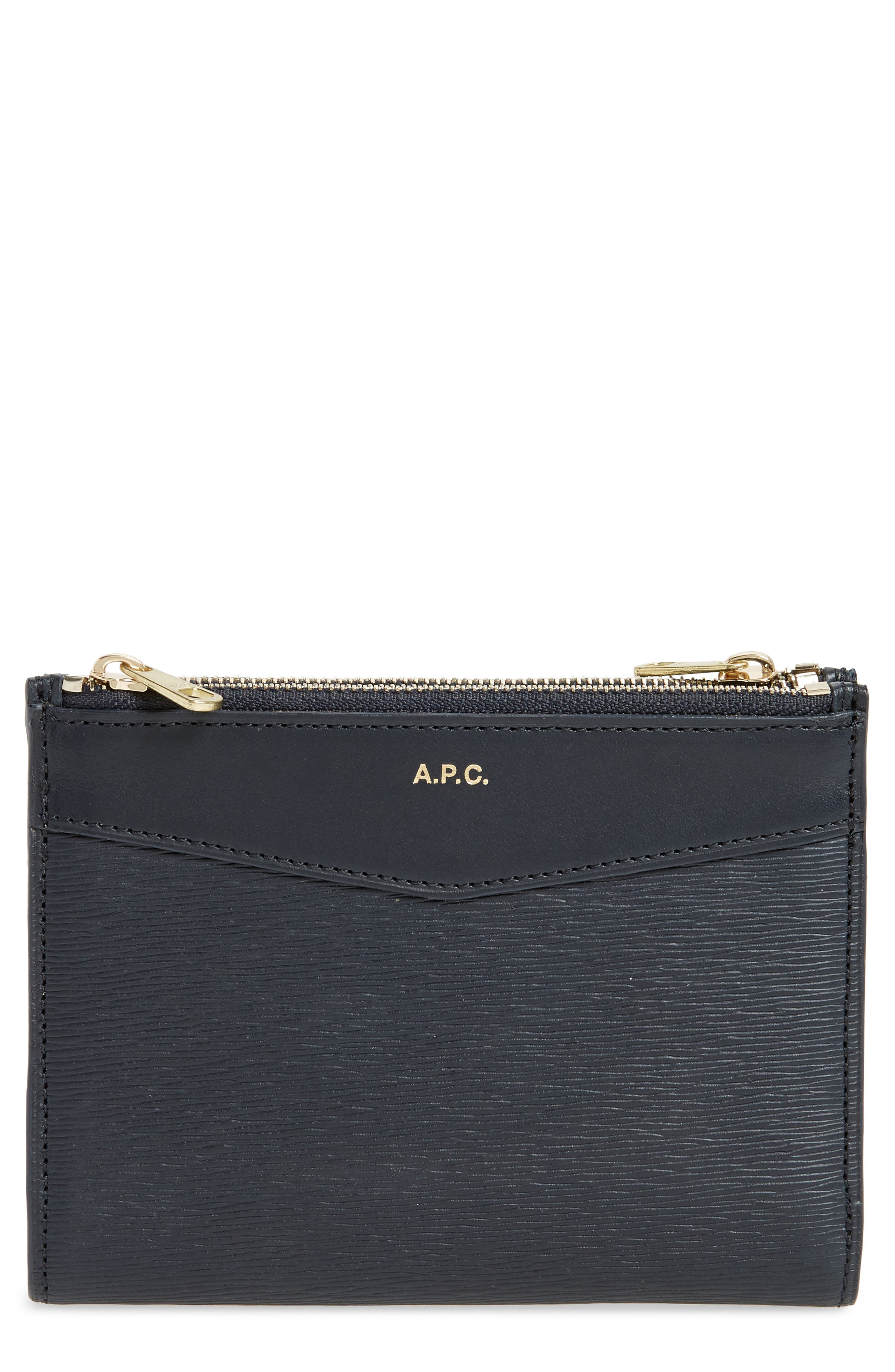 A.P.C. Claudine Calfskin Leather Wallet