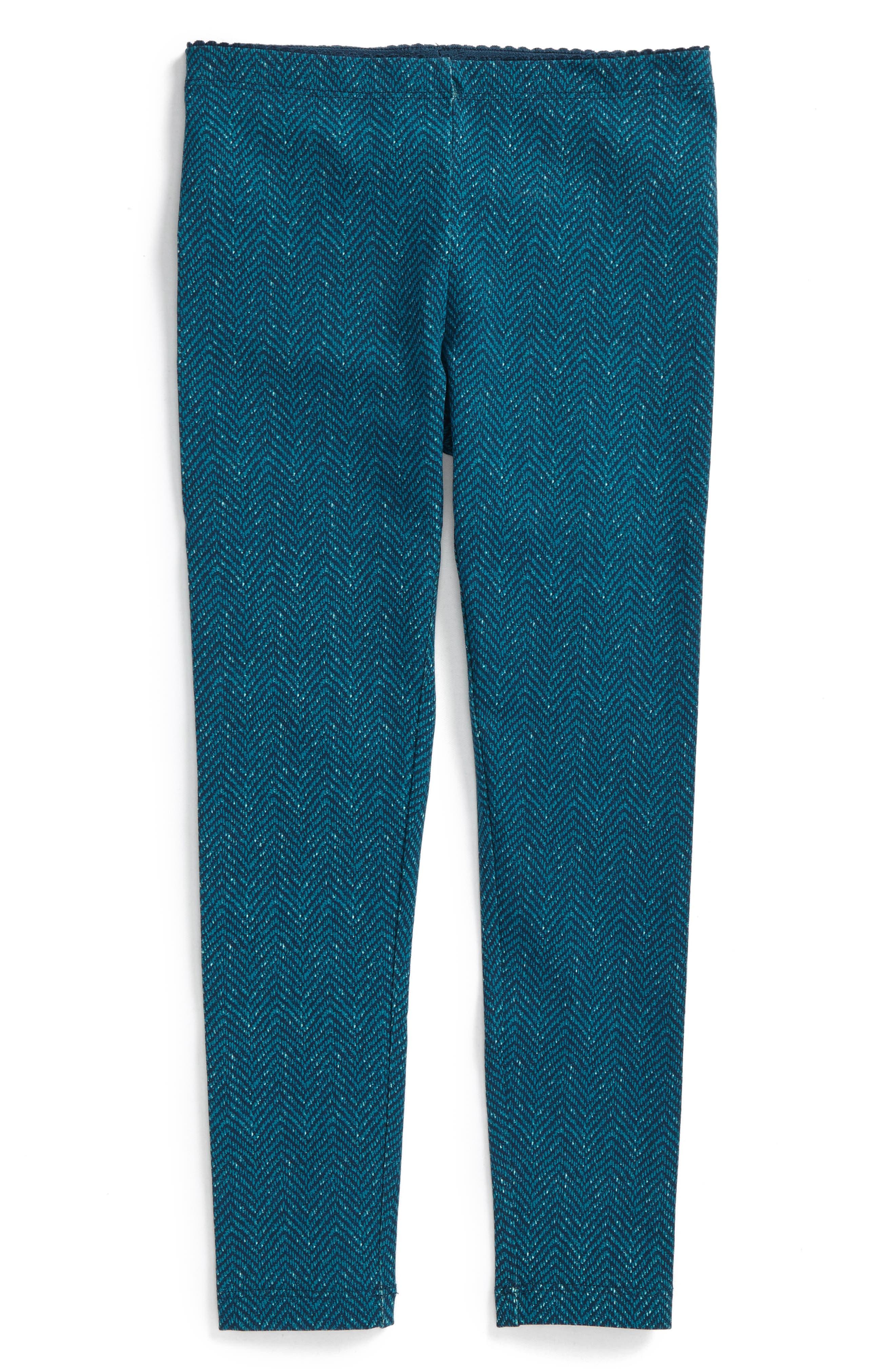 Tweed Print Leggings,                             Main thumbnail 1, color,                             River Green