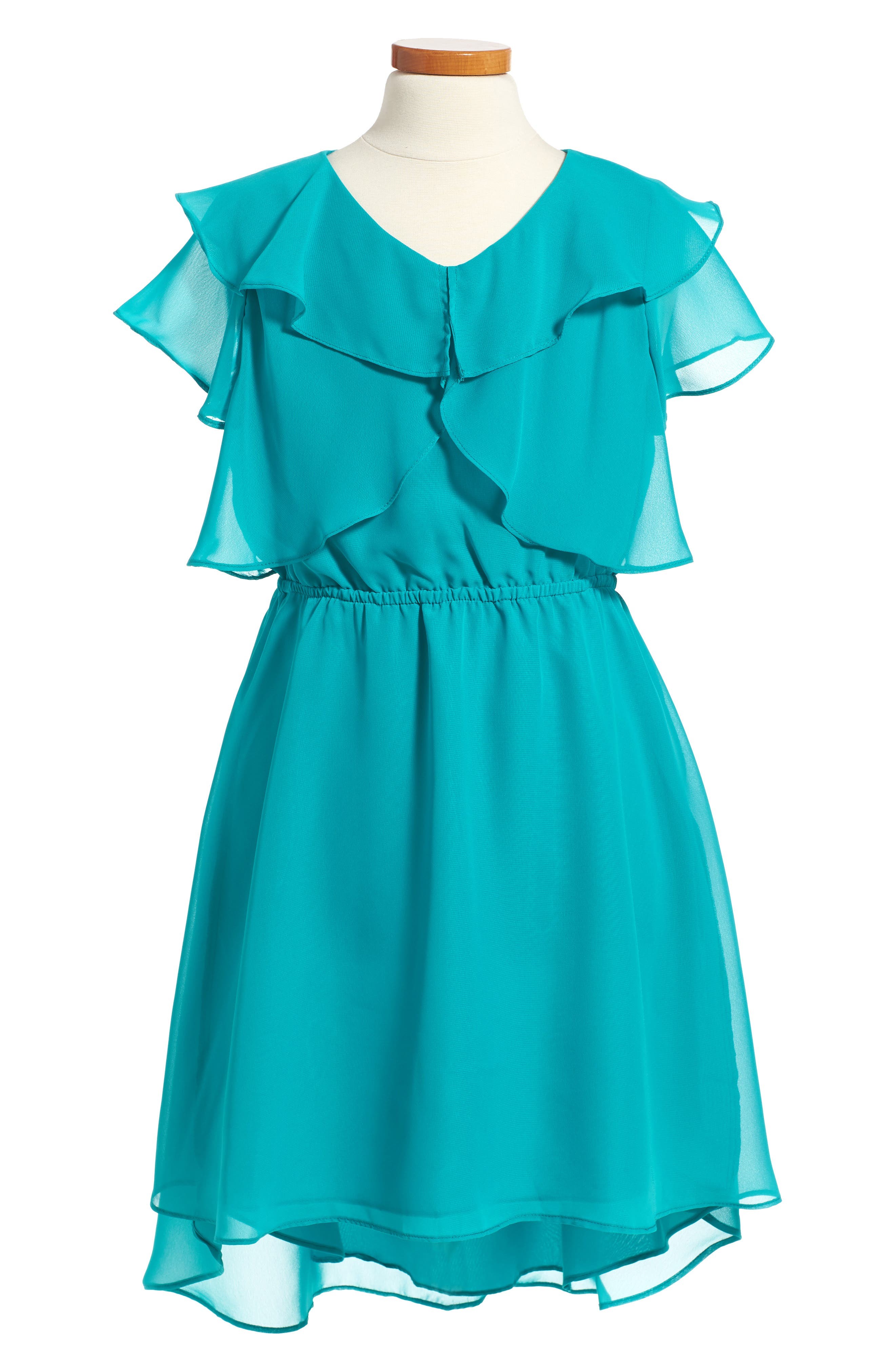 Blush by Us Angels Ruffle Dress (Big Girls)