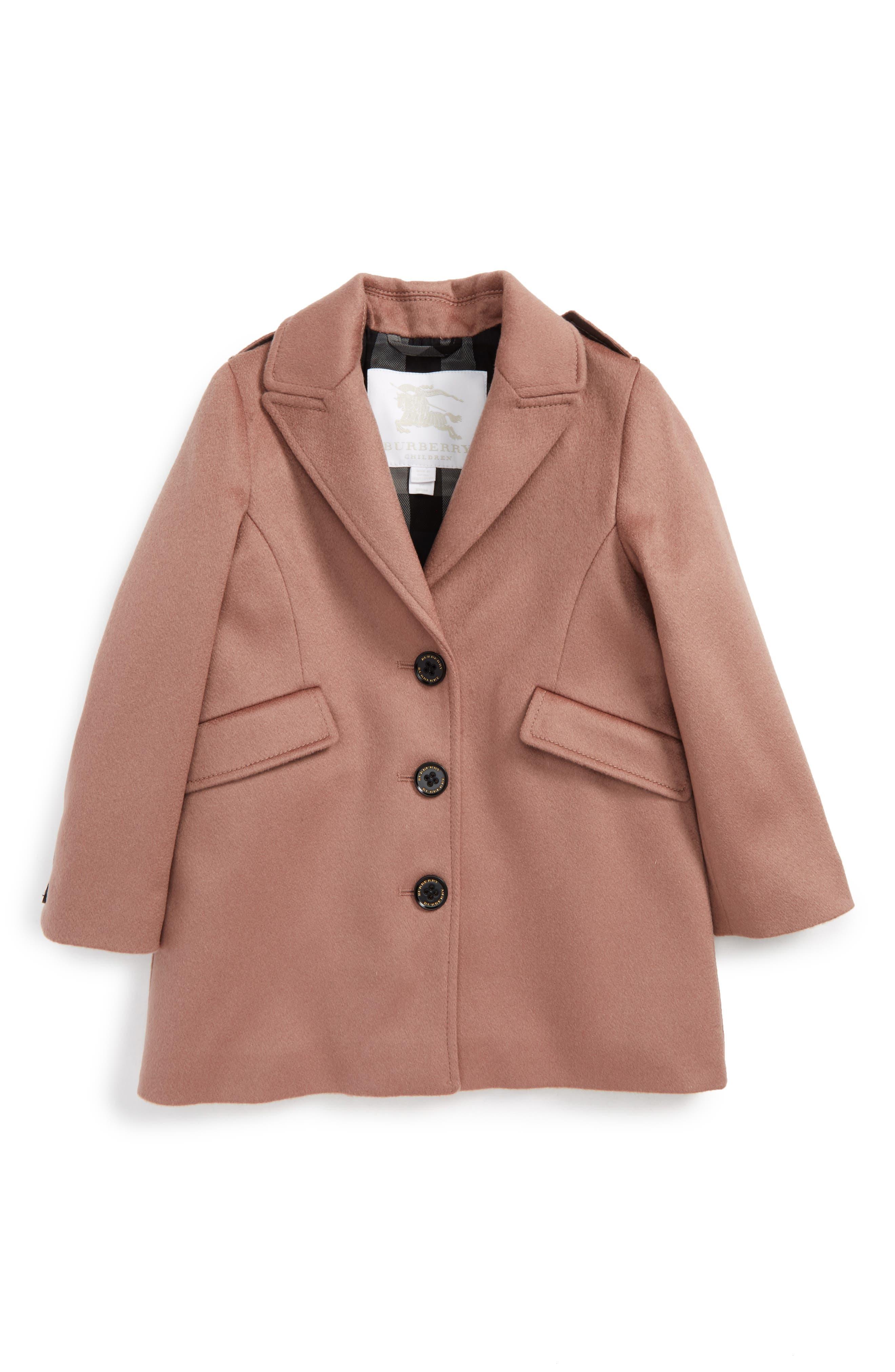 Burberry Mini Bridget Cashmere Coat (Toddler Girls)