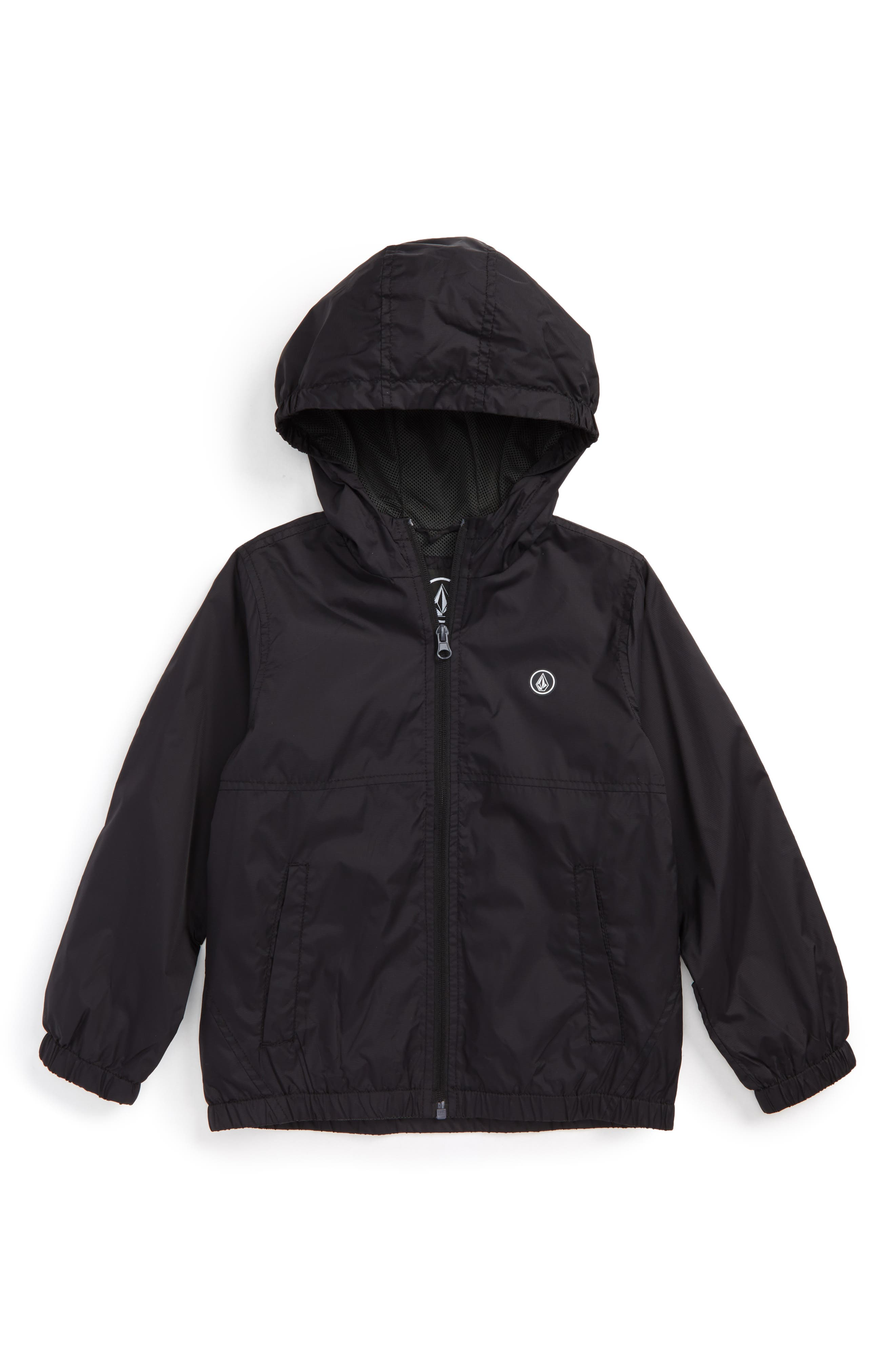 Ermont Hooded Nylon Jacket,                         Main,                         color, Black