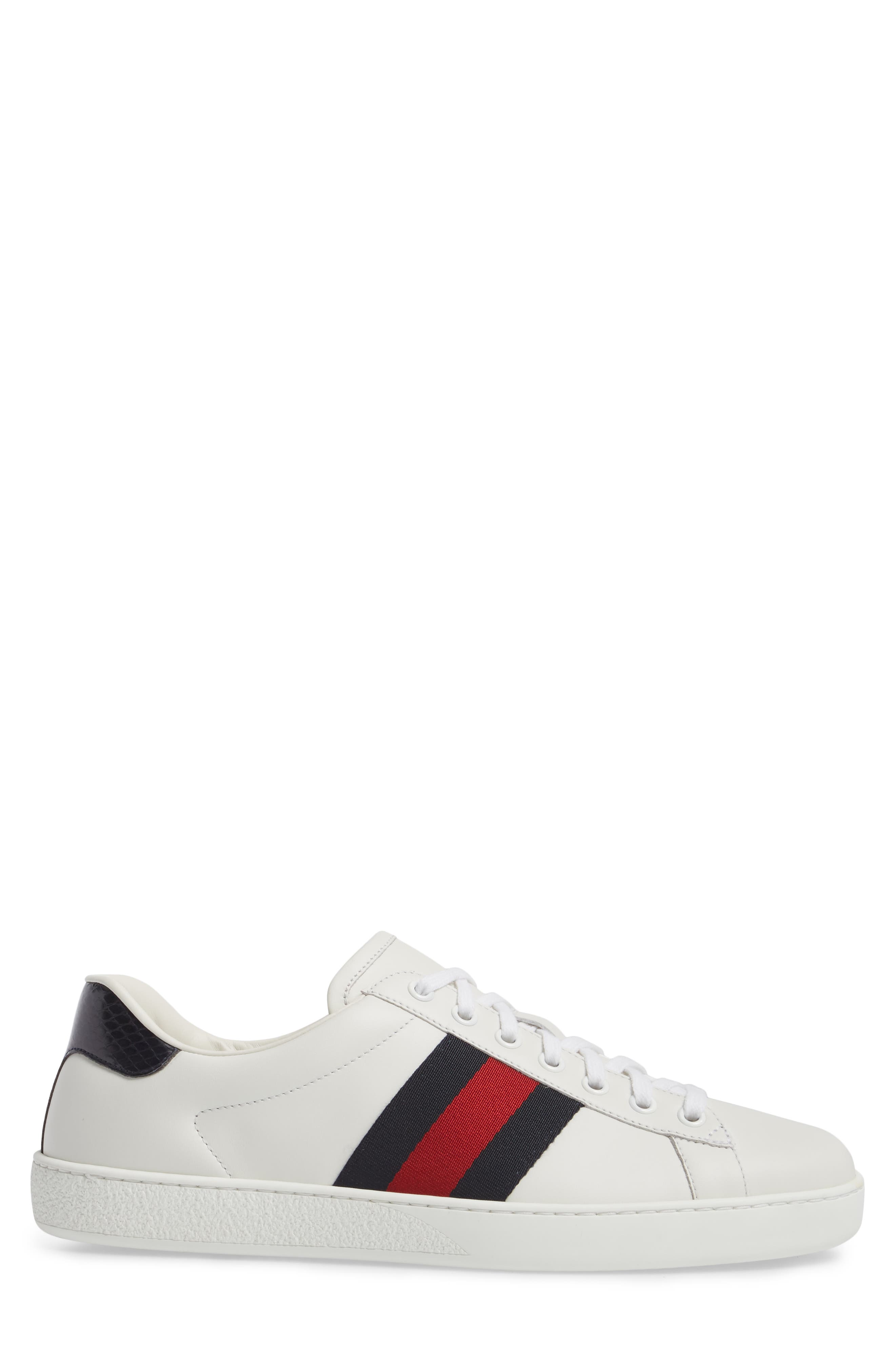 New Ace Clean Sneaker,                             Alternate thumbnail 3, color,                             Bianco