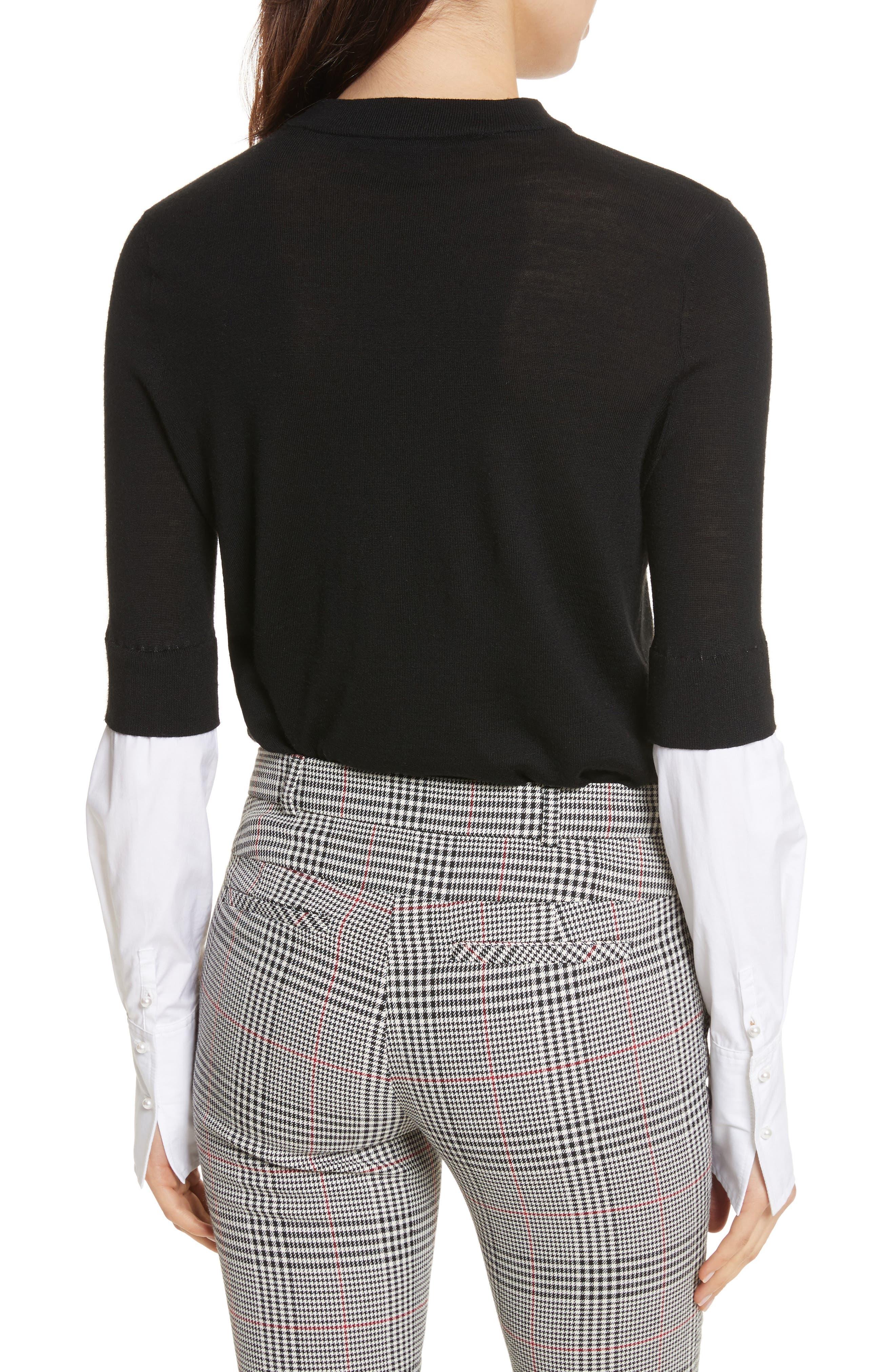 Roscoe Mixed Media Sweater,                             Alternate thumbnail 2, color,                             Black