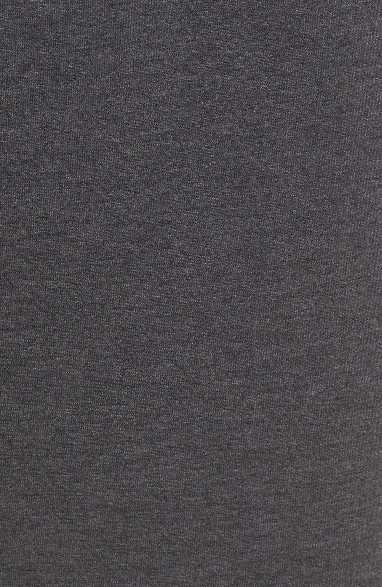 Knit Lounge Pants,                             Alternate thumbnail 5, color,                             Charcoal Heather
