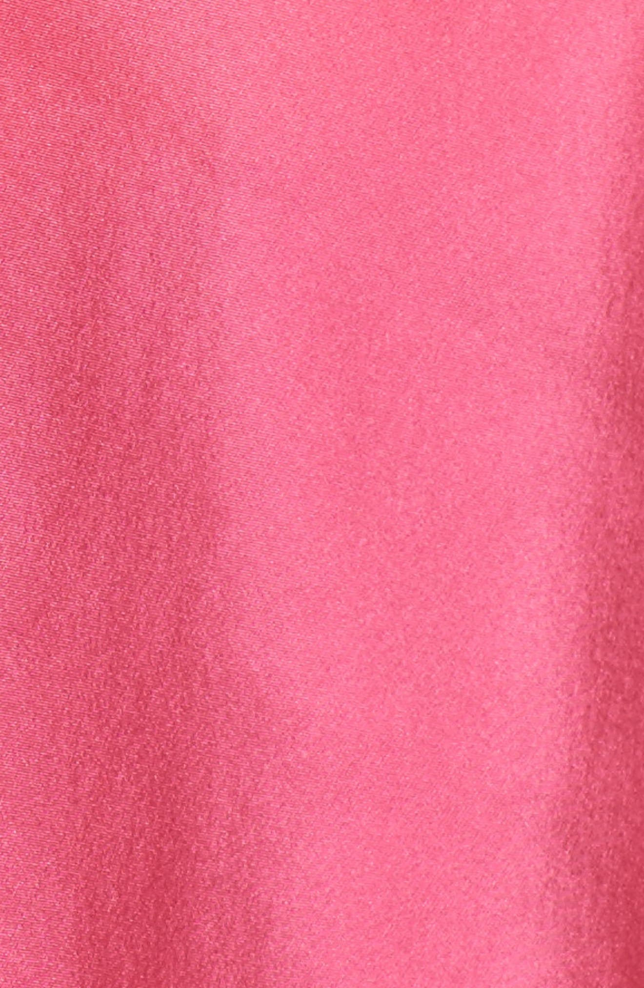 Ruffle Silk Camisole,                             Alternate thumbnail 5, color,                             Pink Rouge