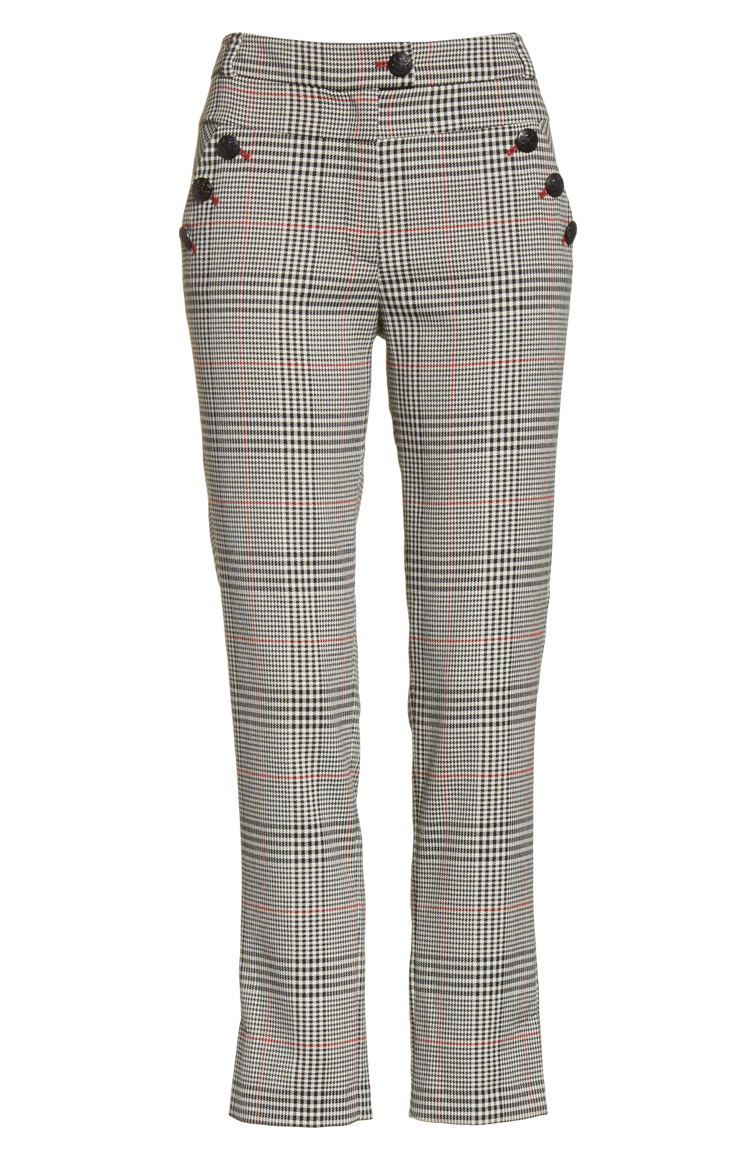 Farrow Pants,                             Alternate thumbnail 6, color,                             White/ Black/ Red