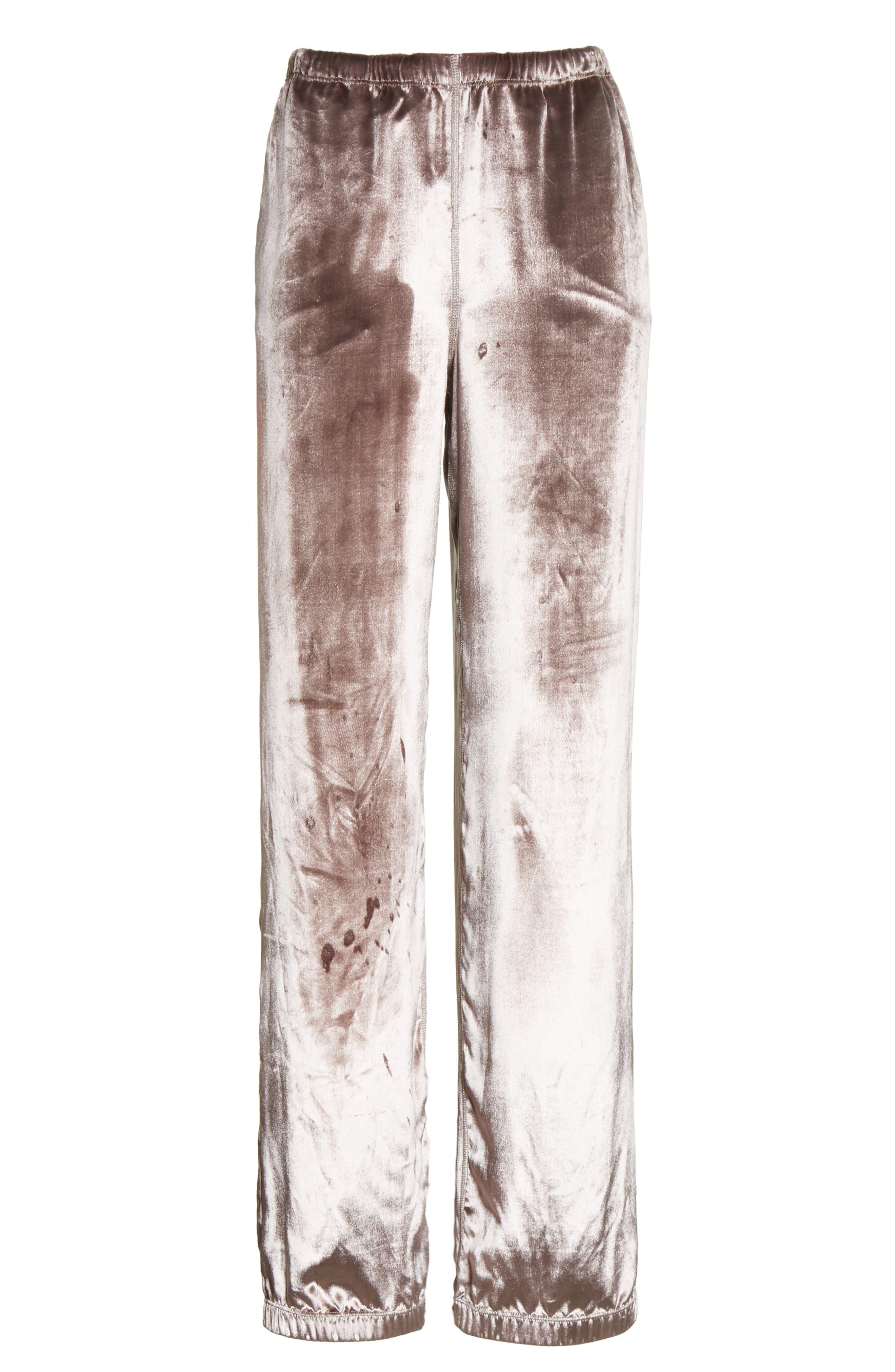 Alternate Image 7  - rag & bone Crushed Velvet Track Pants