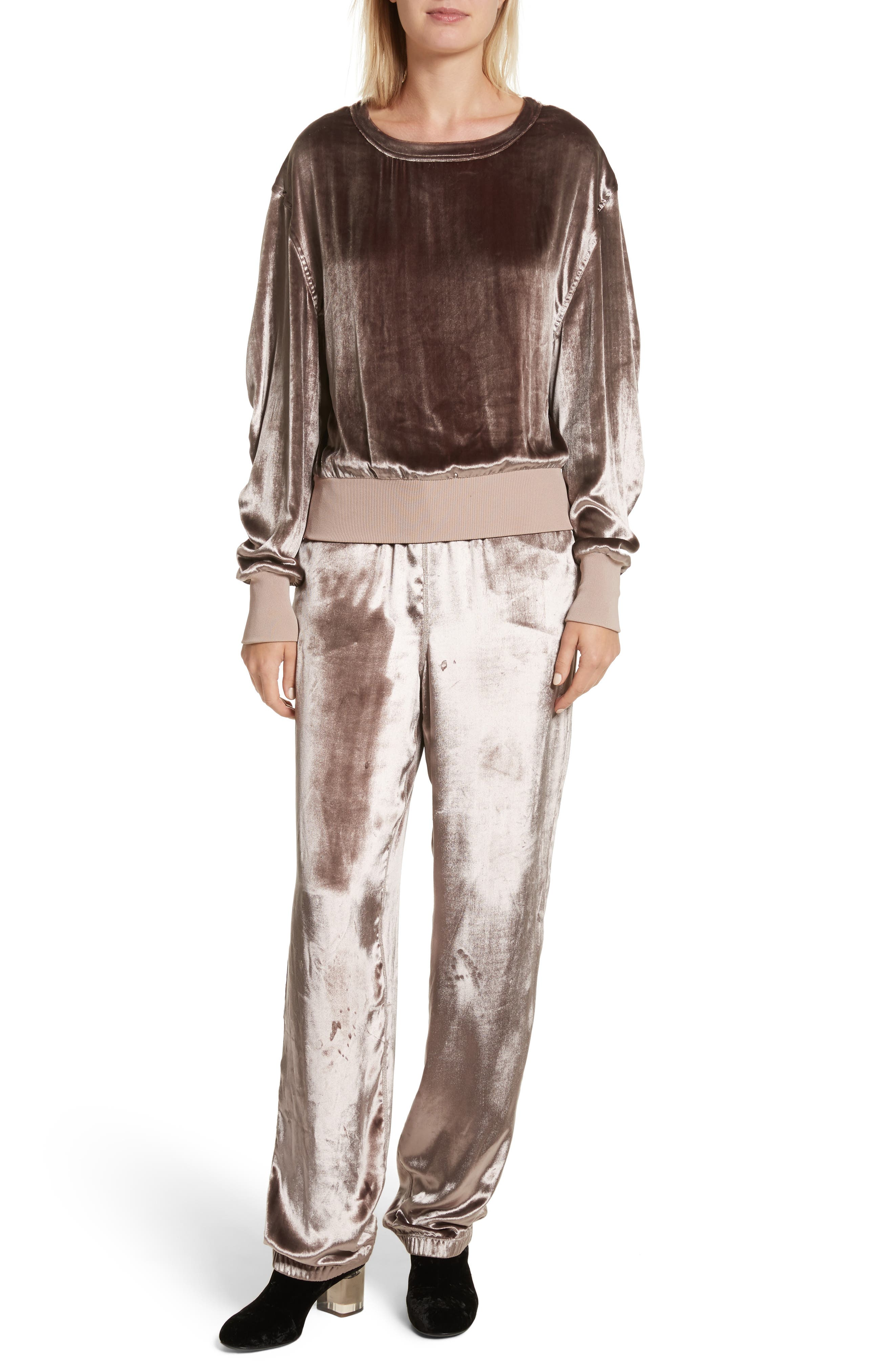 Alternate Image 2  - rag & bone Velvet Sweatshirt