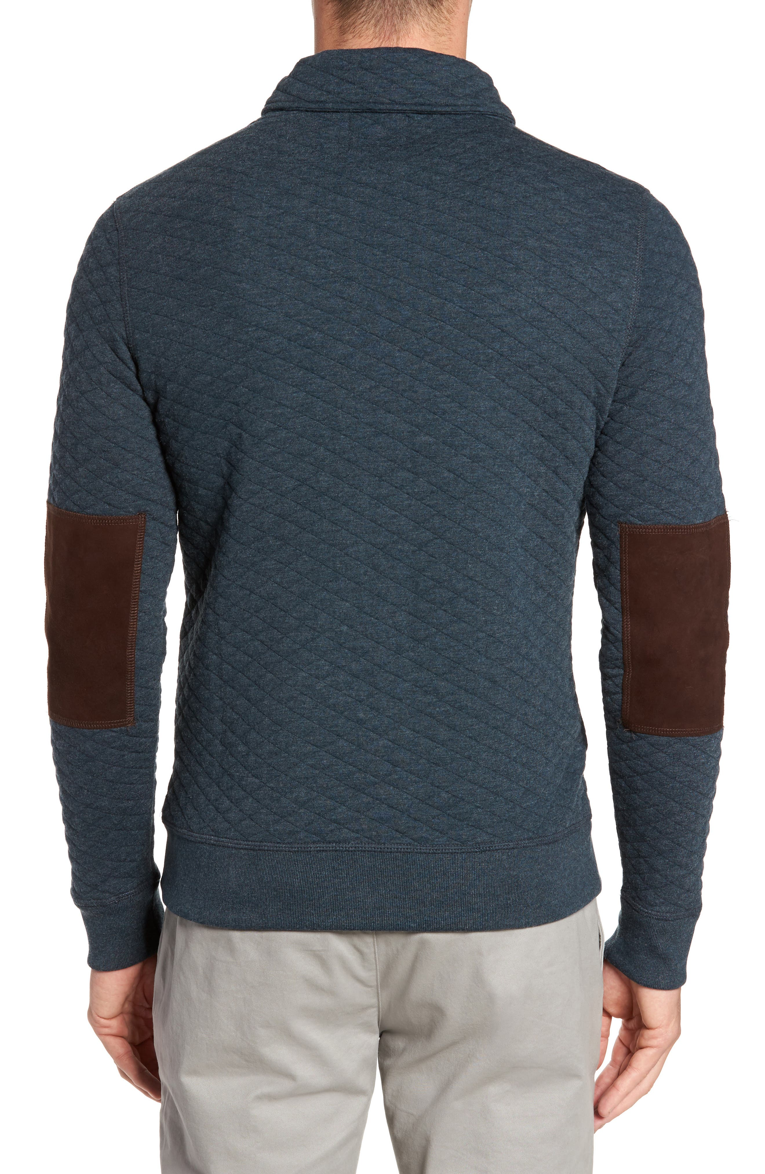 Shawl Collar Pullover,                             Alternate thumbnail 2, color,                             Carbon Blue