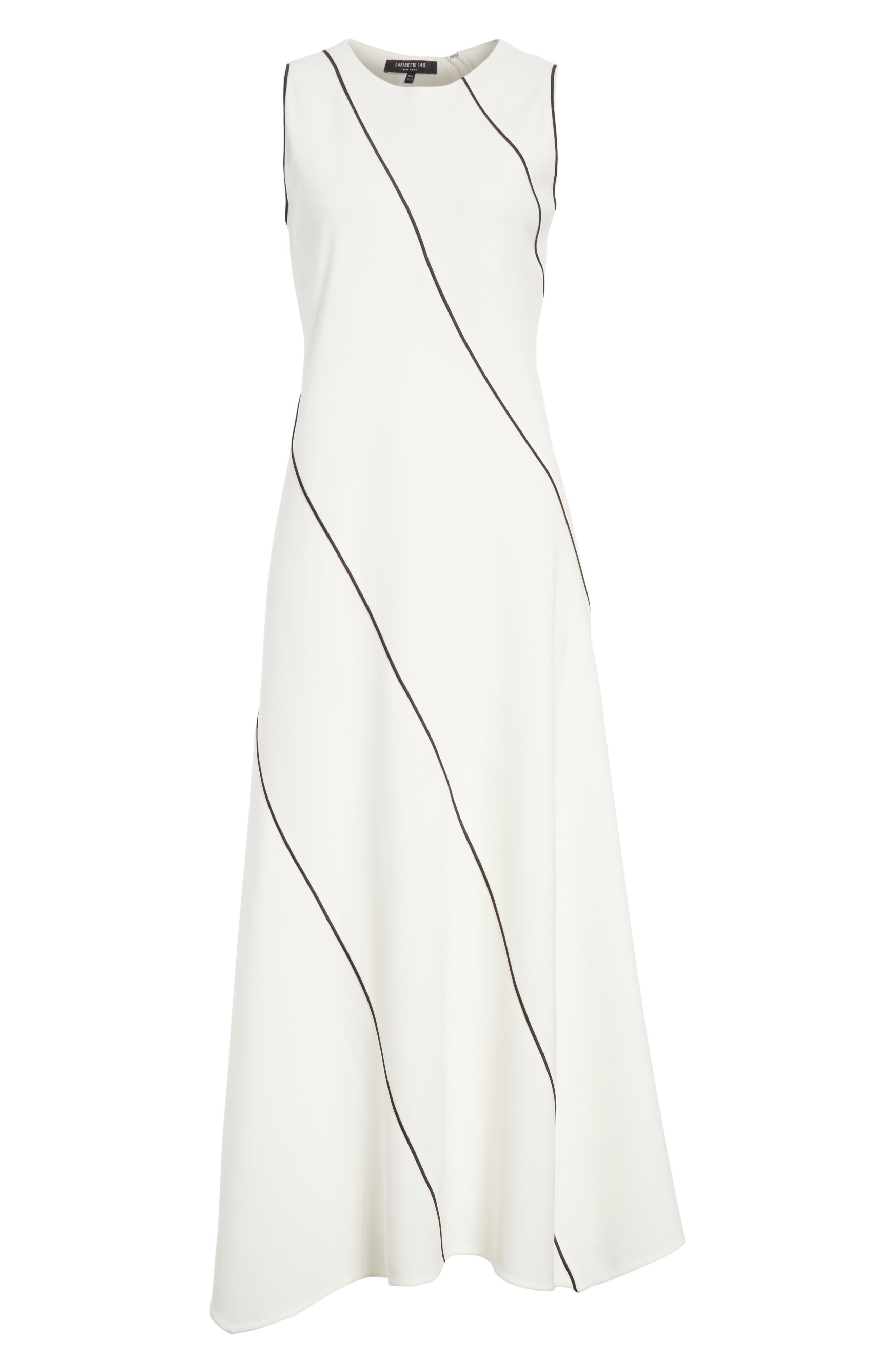 Alternate Image 6  - Lafayette 148 New York Madelia Velvet & Satin Midi Dress