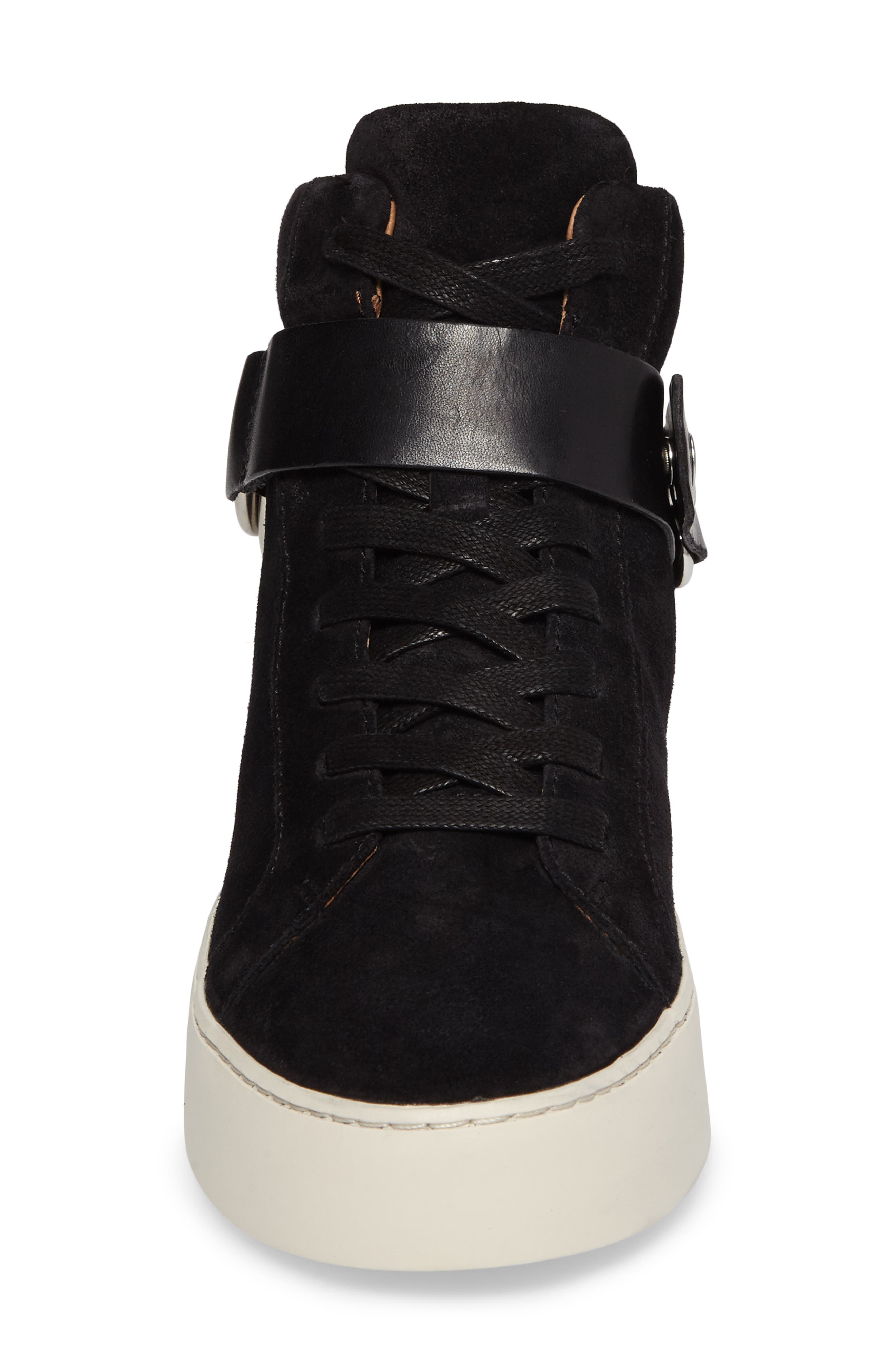 Lena Harness Sneaker,                             Alternate thumbnail 4, color,                             Black