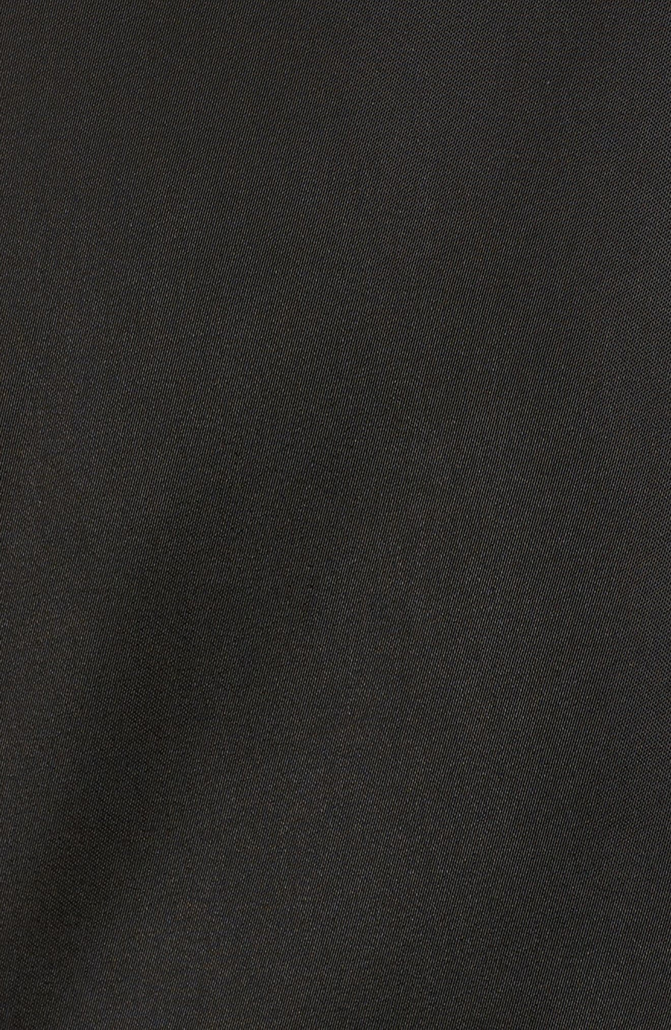 Faux Fur Trim Military Jacket,                             Alternate thumbnail 5, color,                             Black