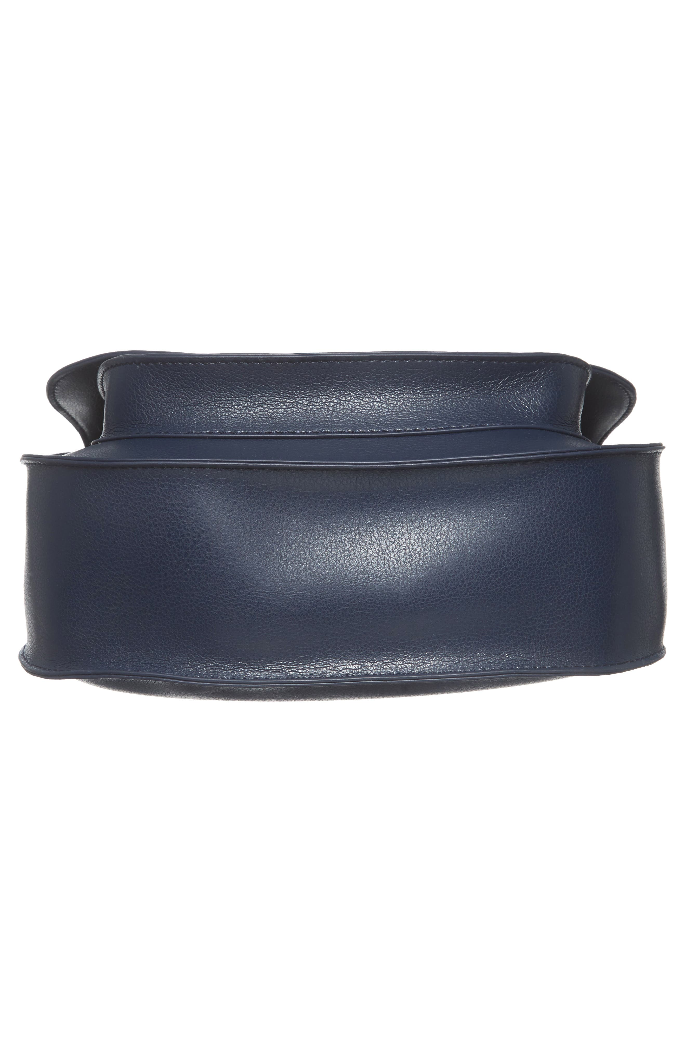 Faux Leather Crossbody Bag,                             Alternate thumbnail 5, color,                             Midnight