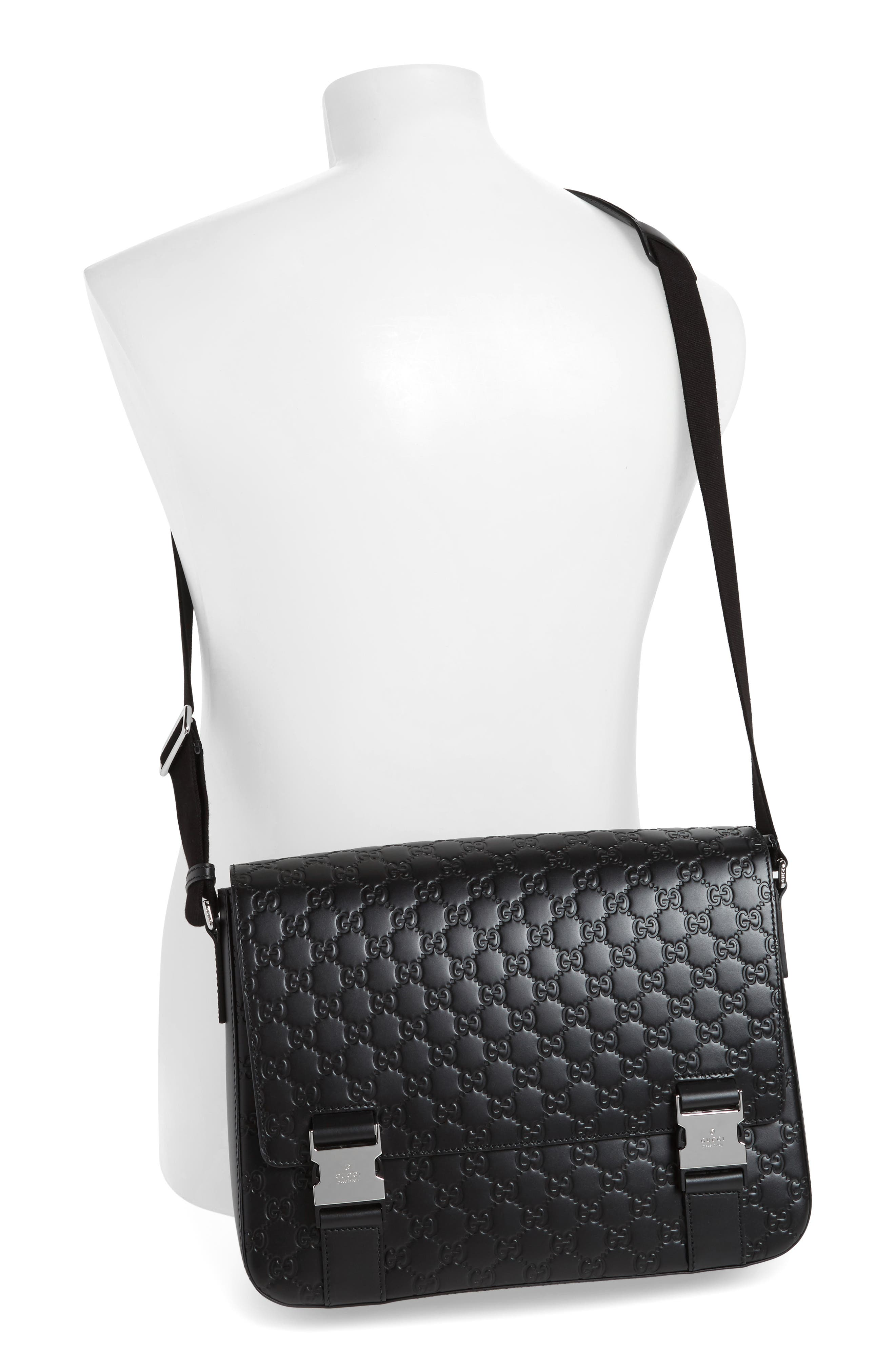 Alternate Image 2  - Gucci GG Leather Messenger Bag