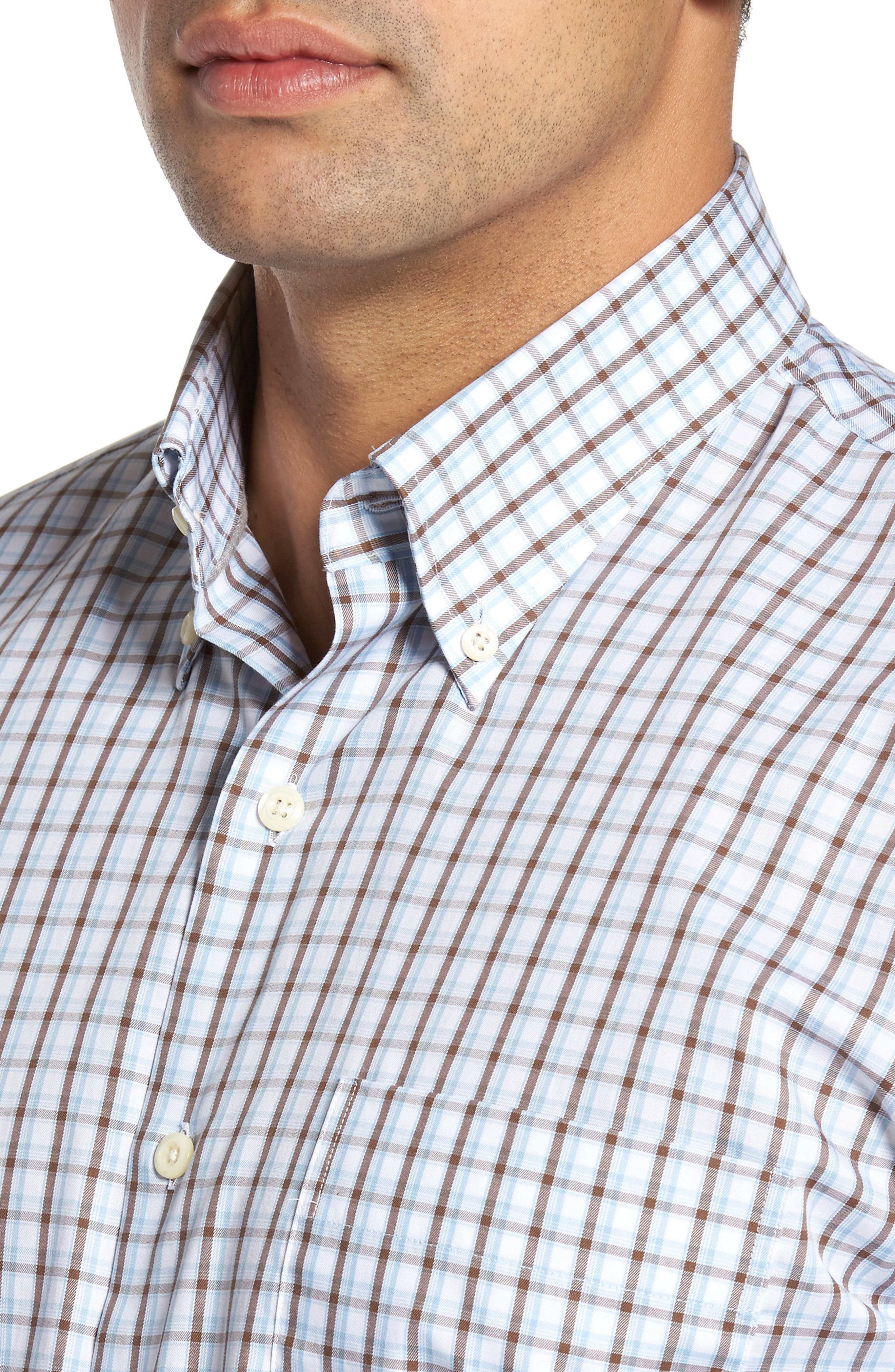 Alternate Image 4  - Peter Millar Regular Fit Crisp Pane Sport Shirt