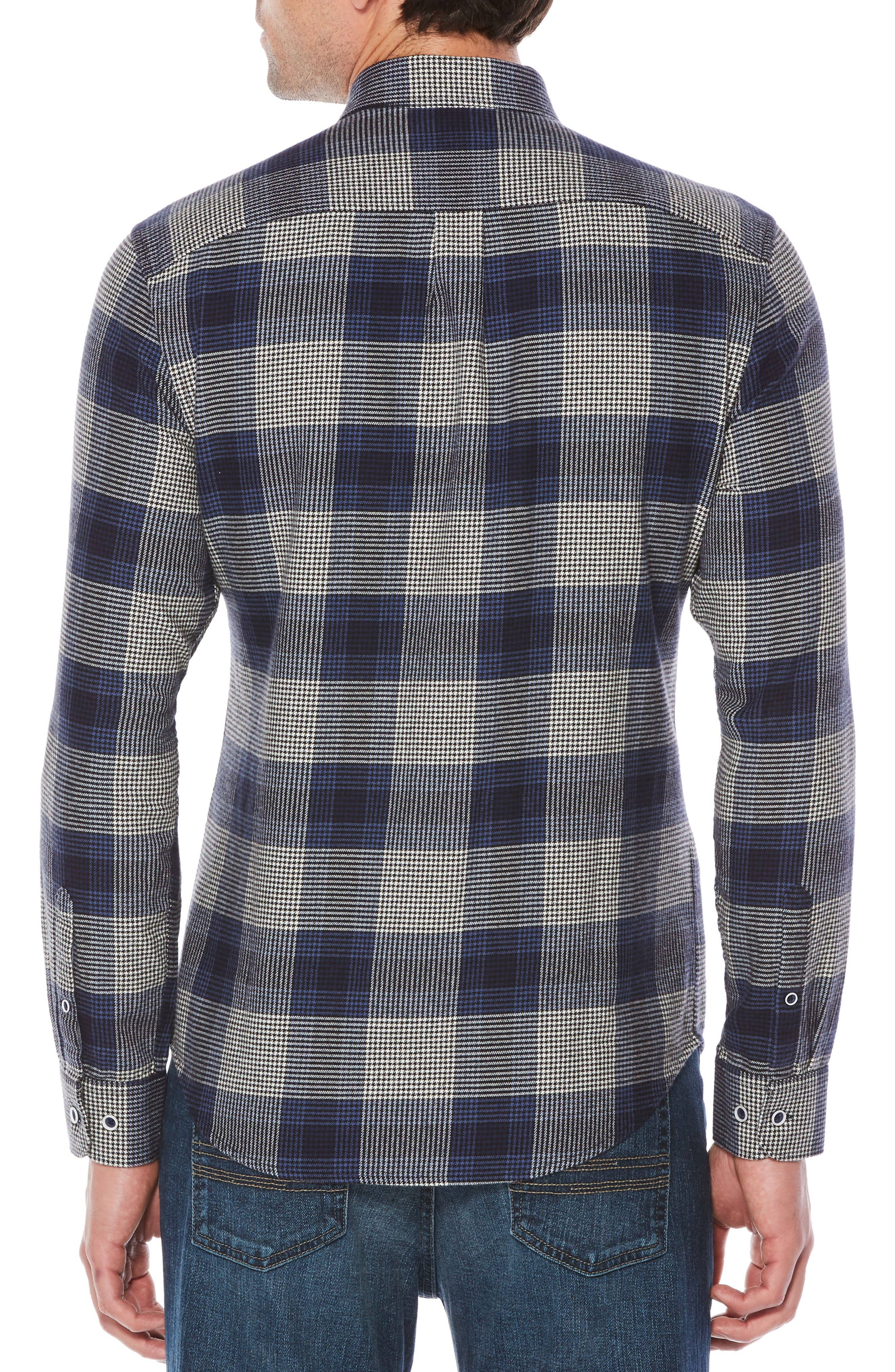 Brush Flannel Shirt,                             Alternate thumbnail 2, color,                             Snorkel Blue