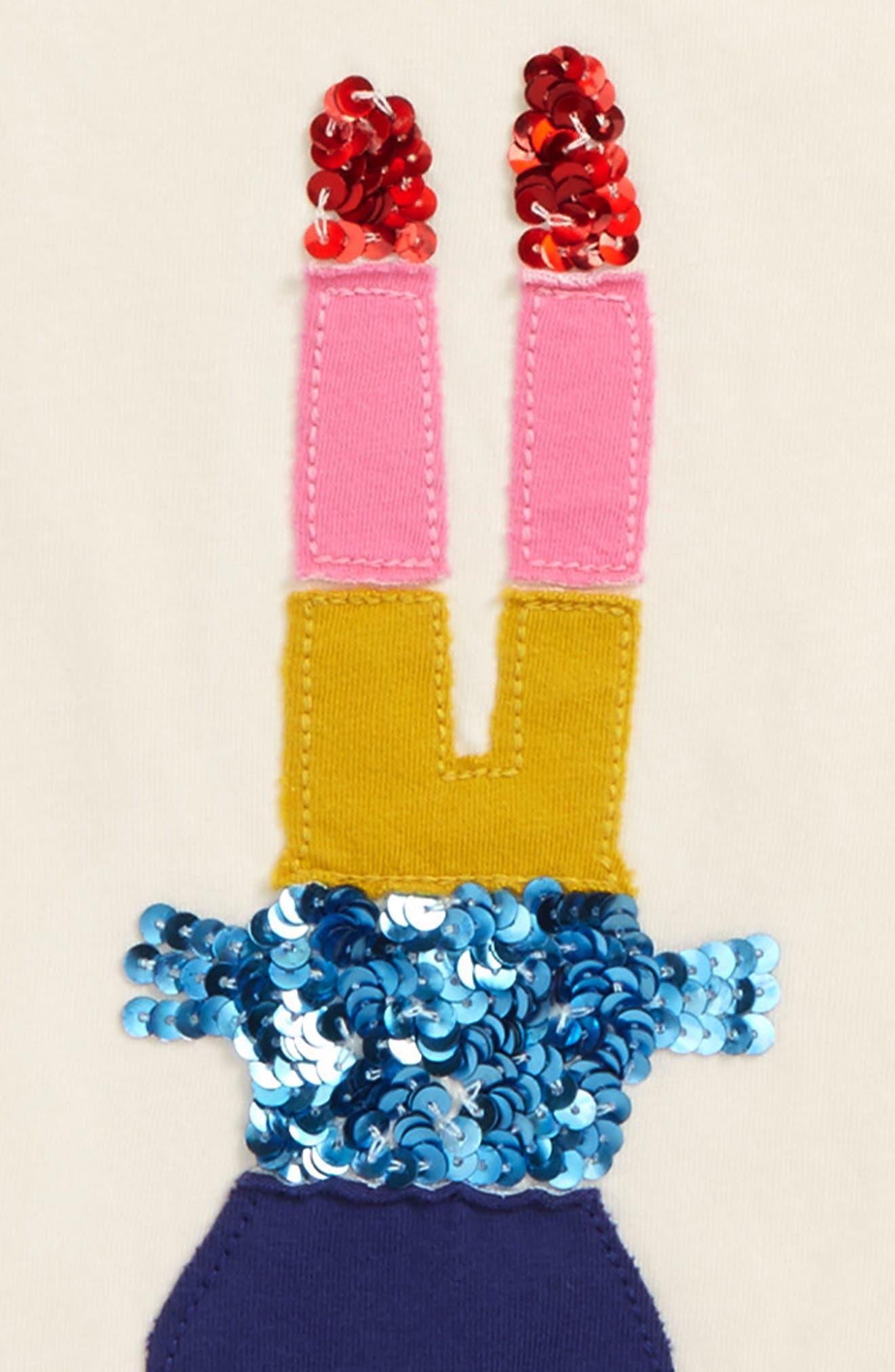 Alternate Image 2  - Mini Boden Sequin Rainbow Tee (Toddler Girls, Little Girls & Big Girls)