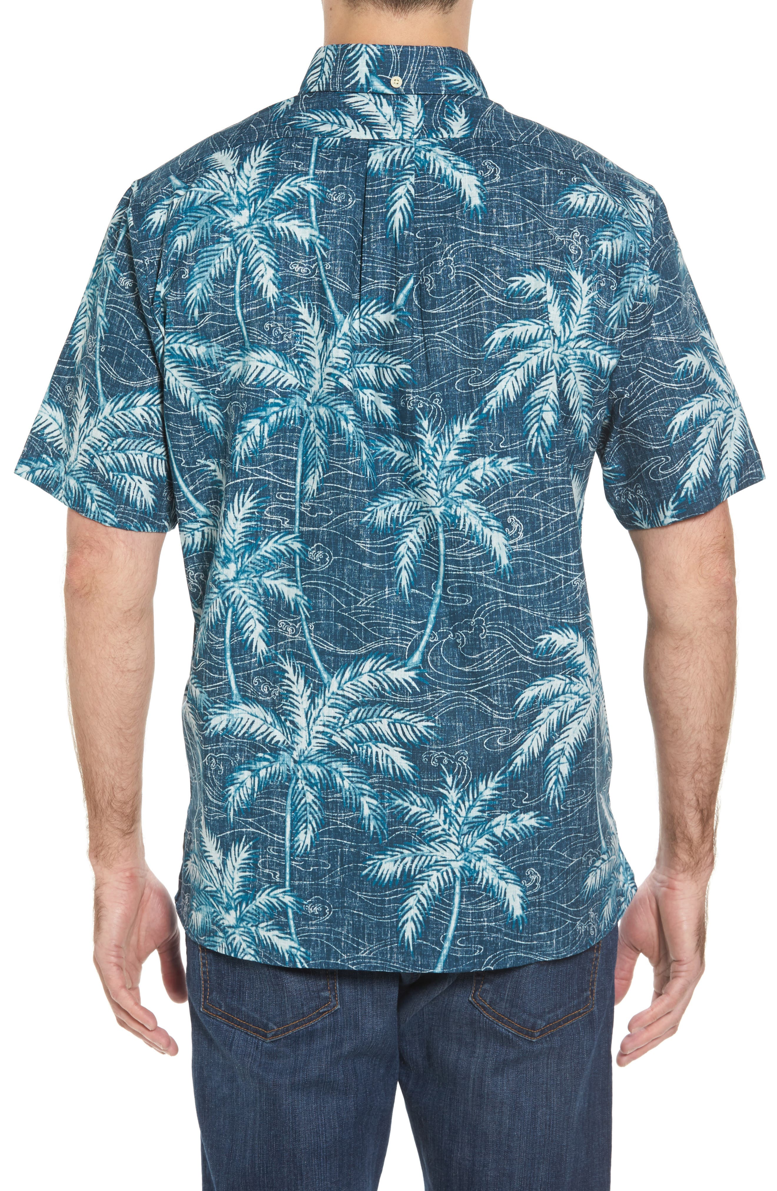Alternate Image 2  - Reyn Spooner Palm Seas Classic Fit Sport Shirt