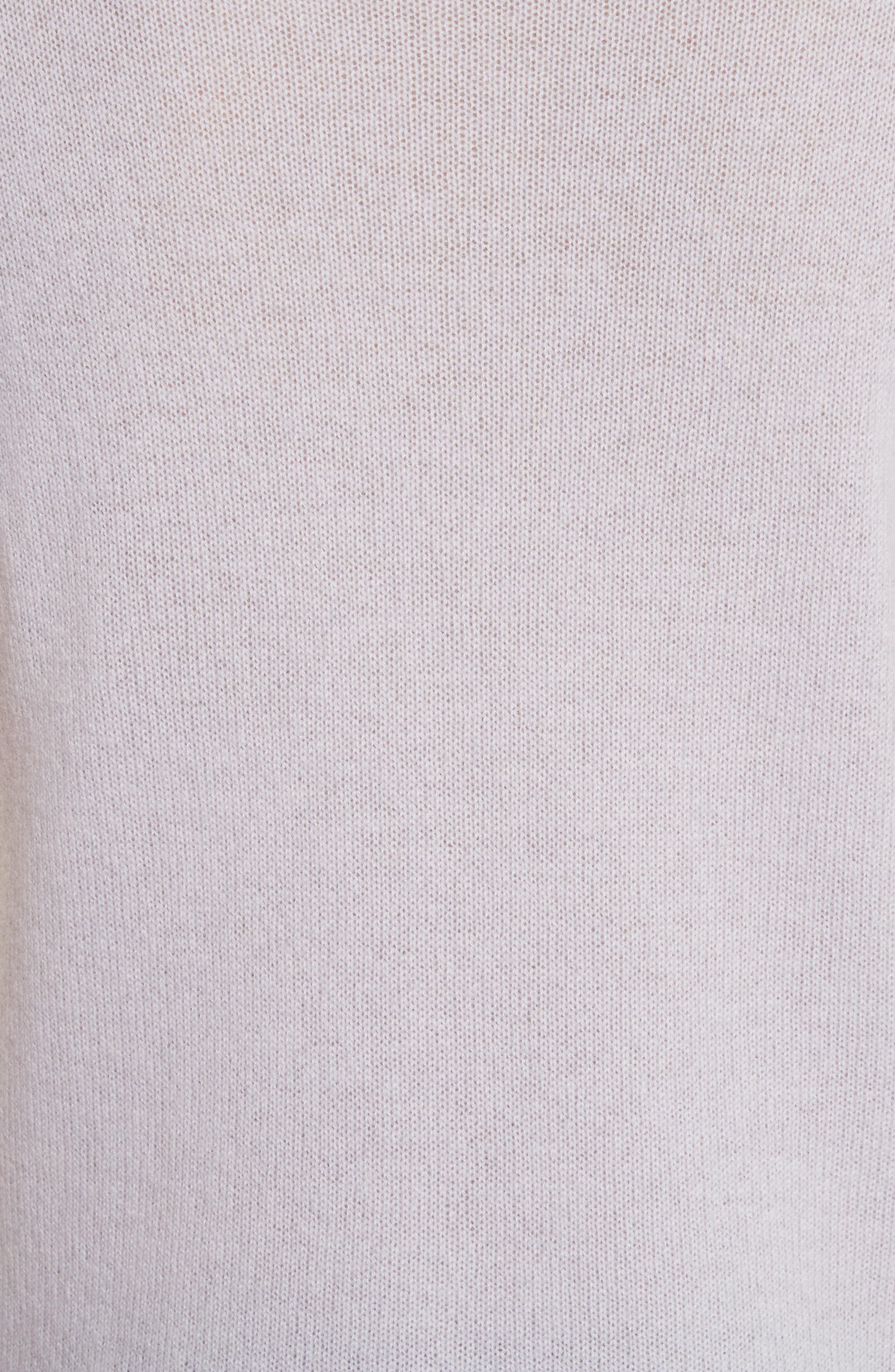 Schoolboy Cashmere Sweater,                             Alternate thumbnail 5, color,                             Lavender