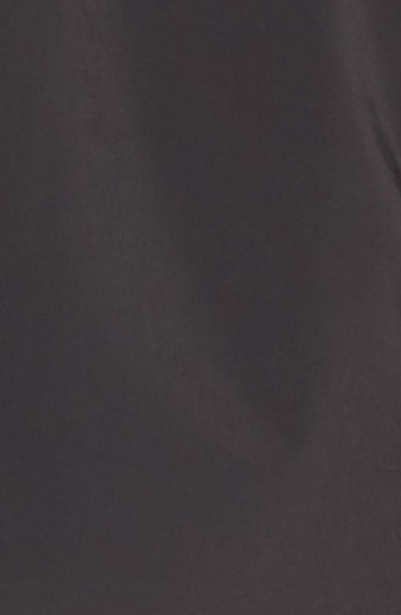 Packable Raincoat,                             Alternate thumbnail 5, color,                             Black