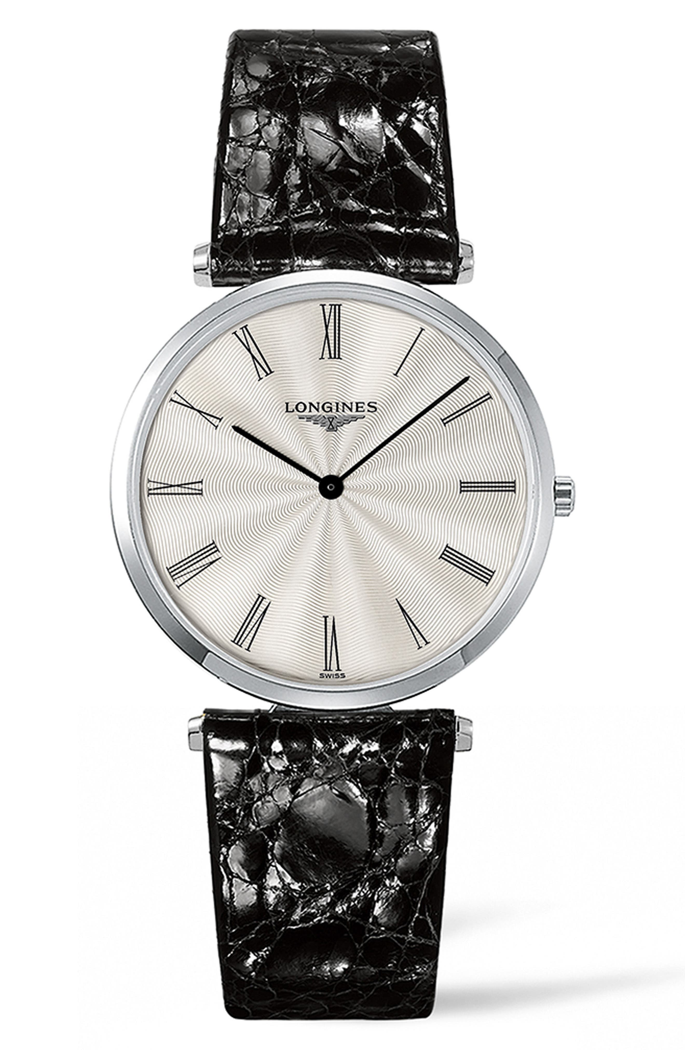 Longines La Grande Classique de Longines Leather Strap Watch, 34mm