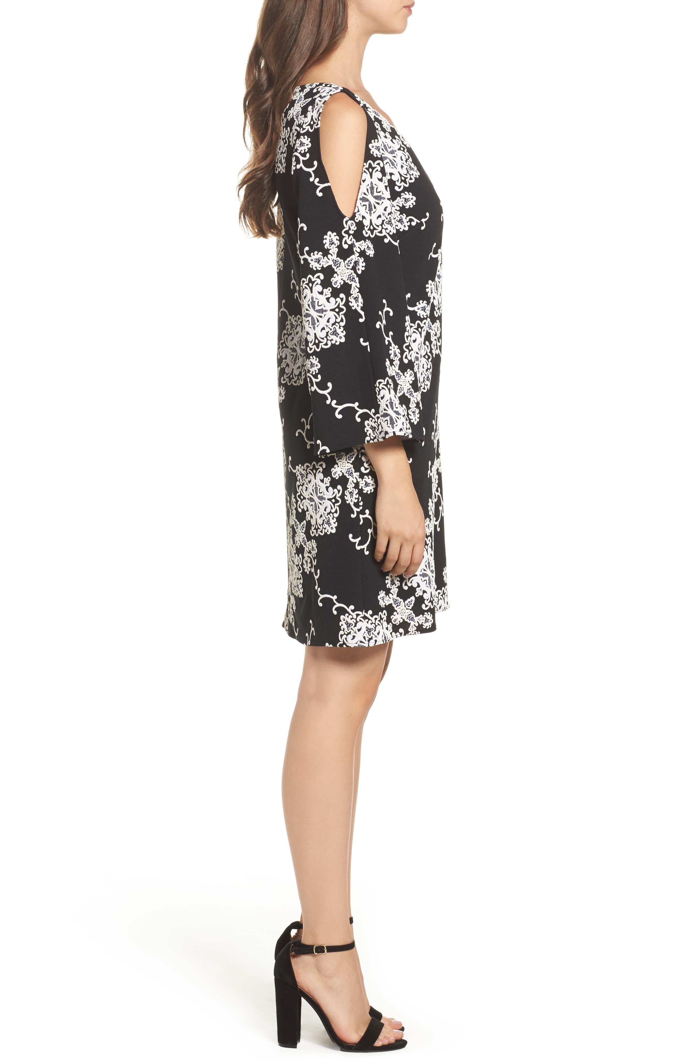Alternate Image 3  - Adrianna Papell Cold Shoulder Shift Dress
